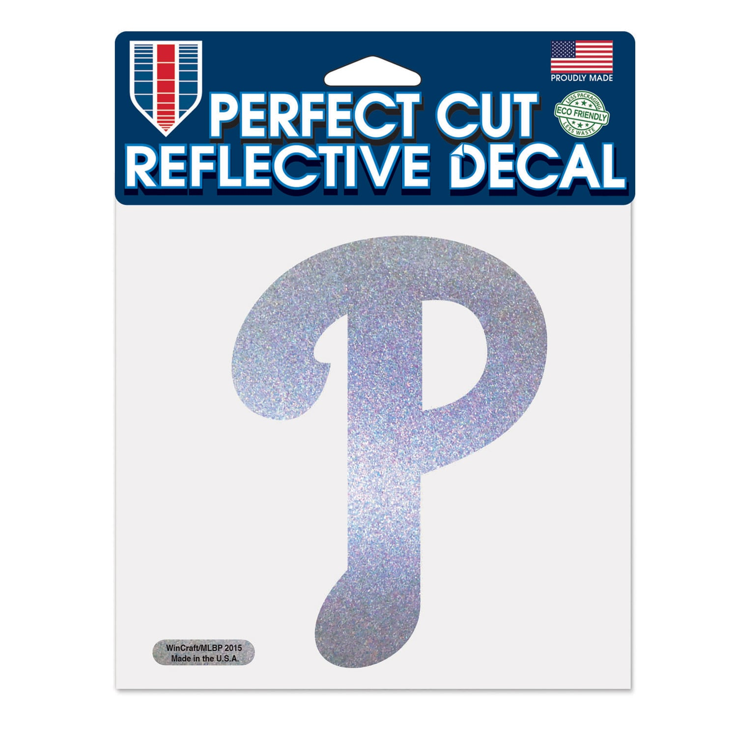 "Philadelphia Phillies WinCraft 6"" x 6"" Reflective Perfect Cut Decal"