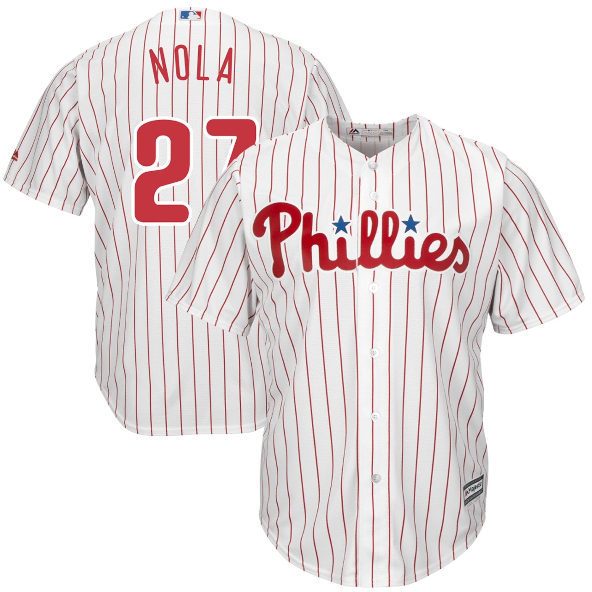 Aaron Nola Philadelphia Phillies Majestic Official Cool Base Player Jersey - White