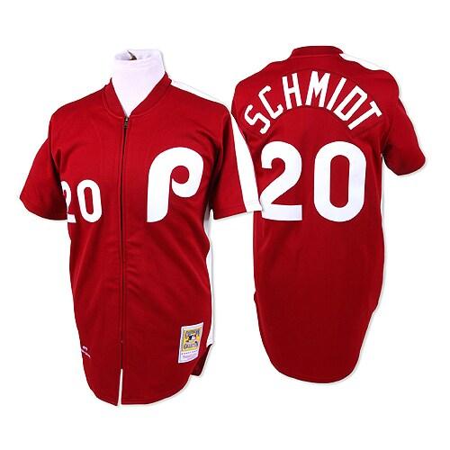 Mike Schmidt 1979 Philadelphia Phillies Mitchell & Ness Authentic Throwback Jersey - Maroon