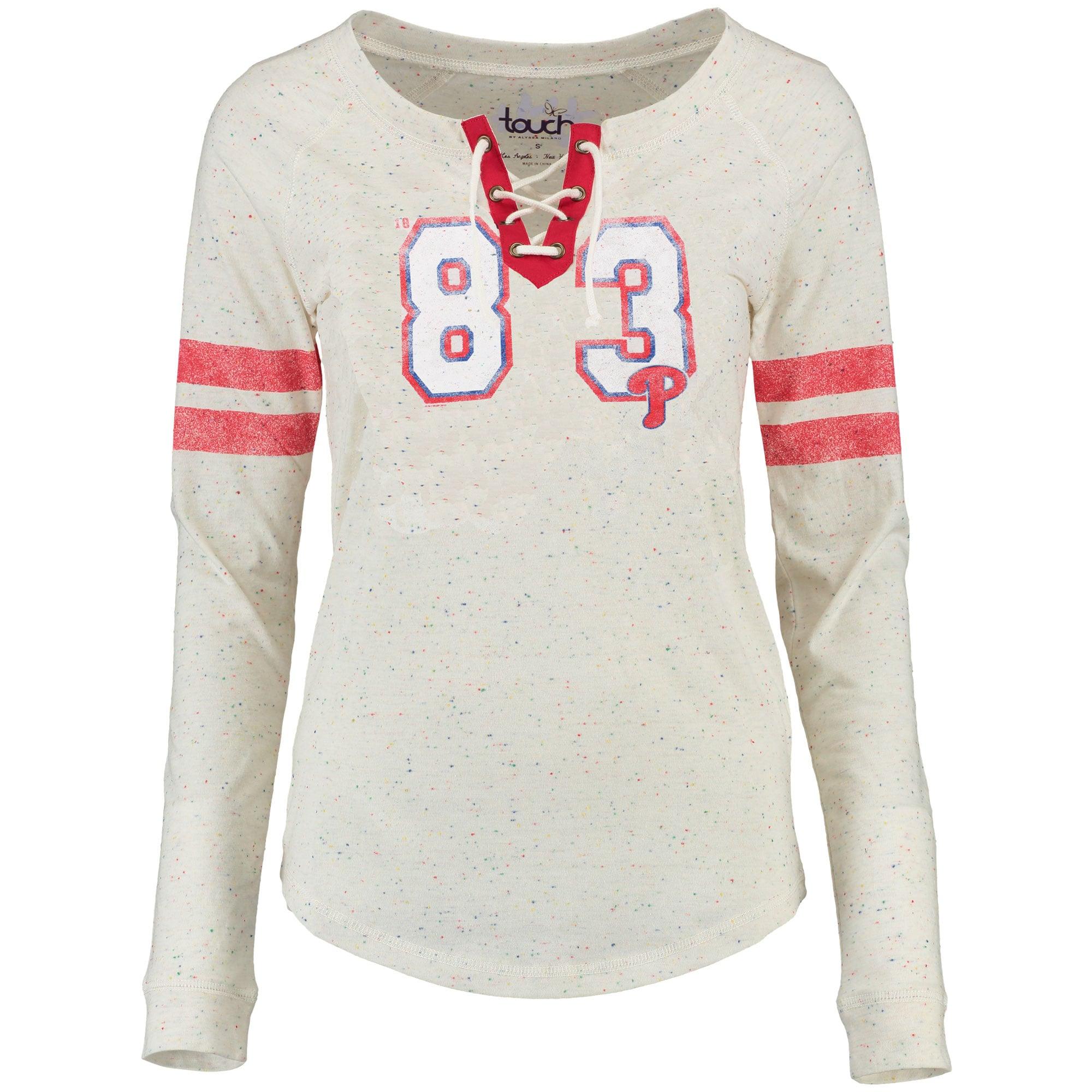 Philadelphia Phillies Touch by Alyssa Milano Women's Kick Off Long Sleeve T-Shirt - White