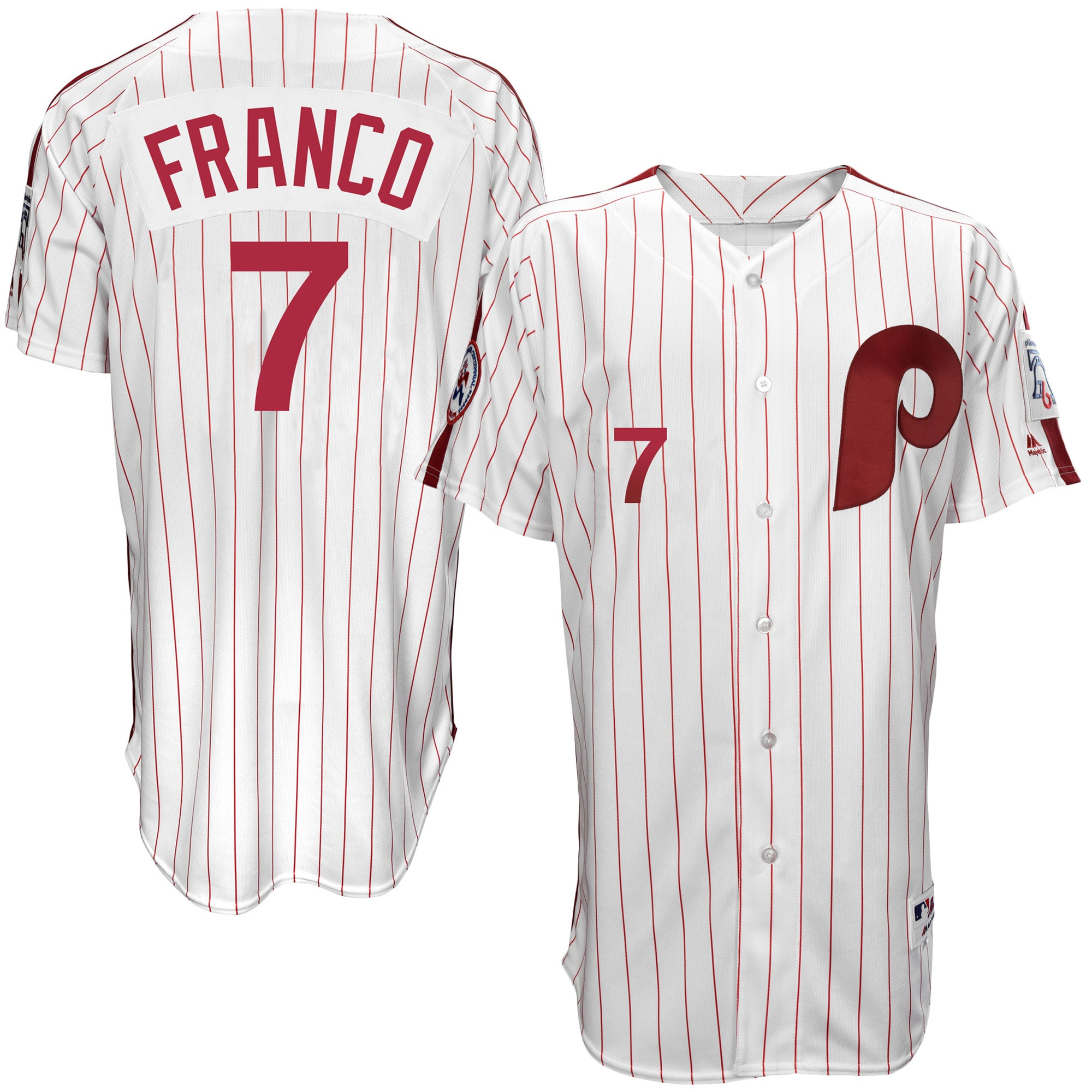 Maikel Franco Philadelphia Phillies Majestic Authentic 1976 Turn Back the Clock Player Jersey - White/Scarlet
