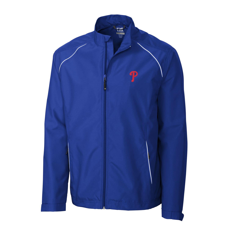 Philadelphia Phillies Cutter & Buck Beacon WeatherTec Full-Zip Jacket - Royal