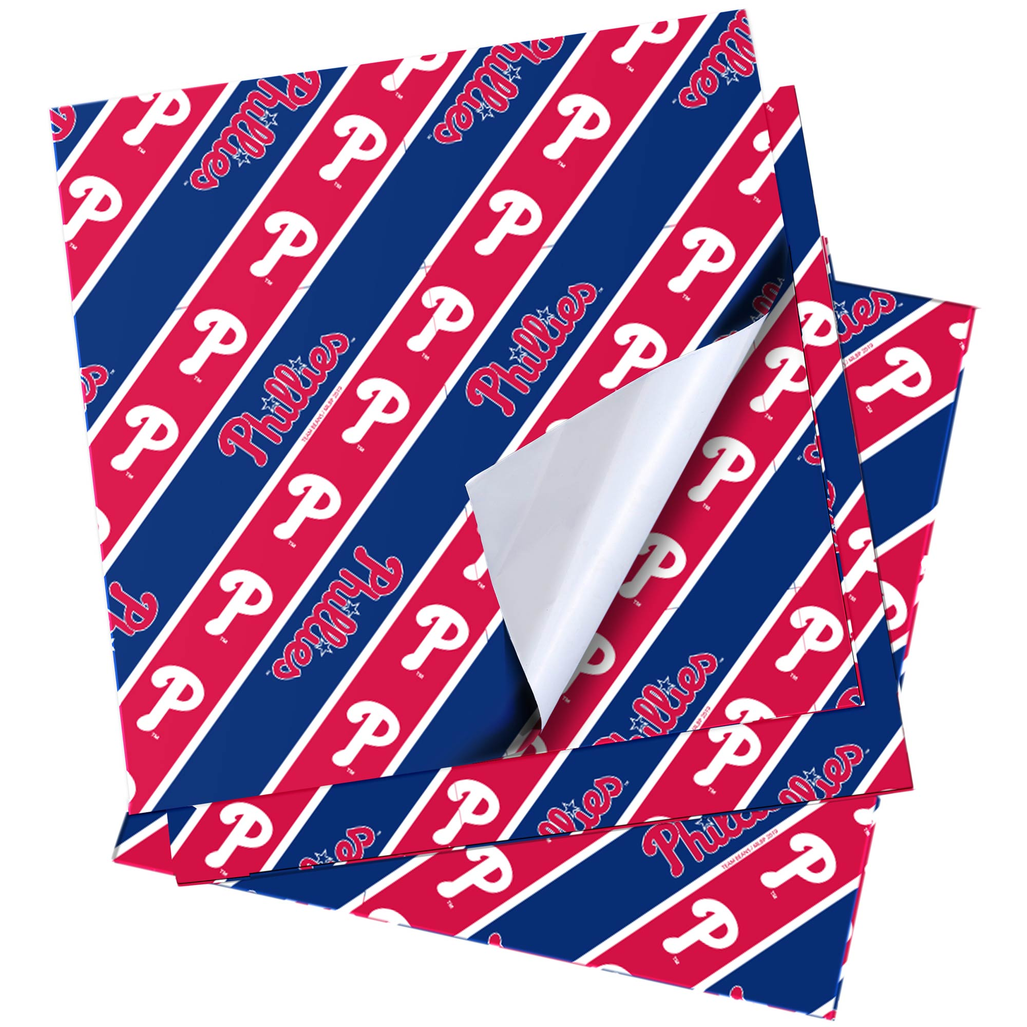 "Philadelphia Phillies 20"" x 30"" Wrapping Paper"