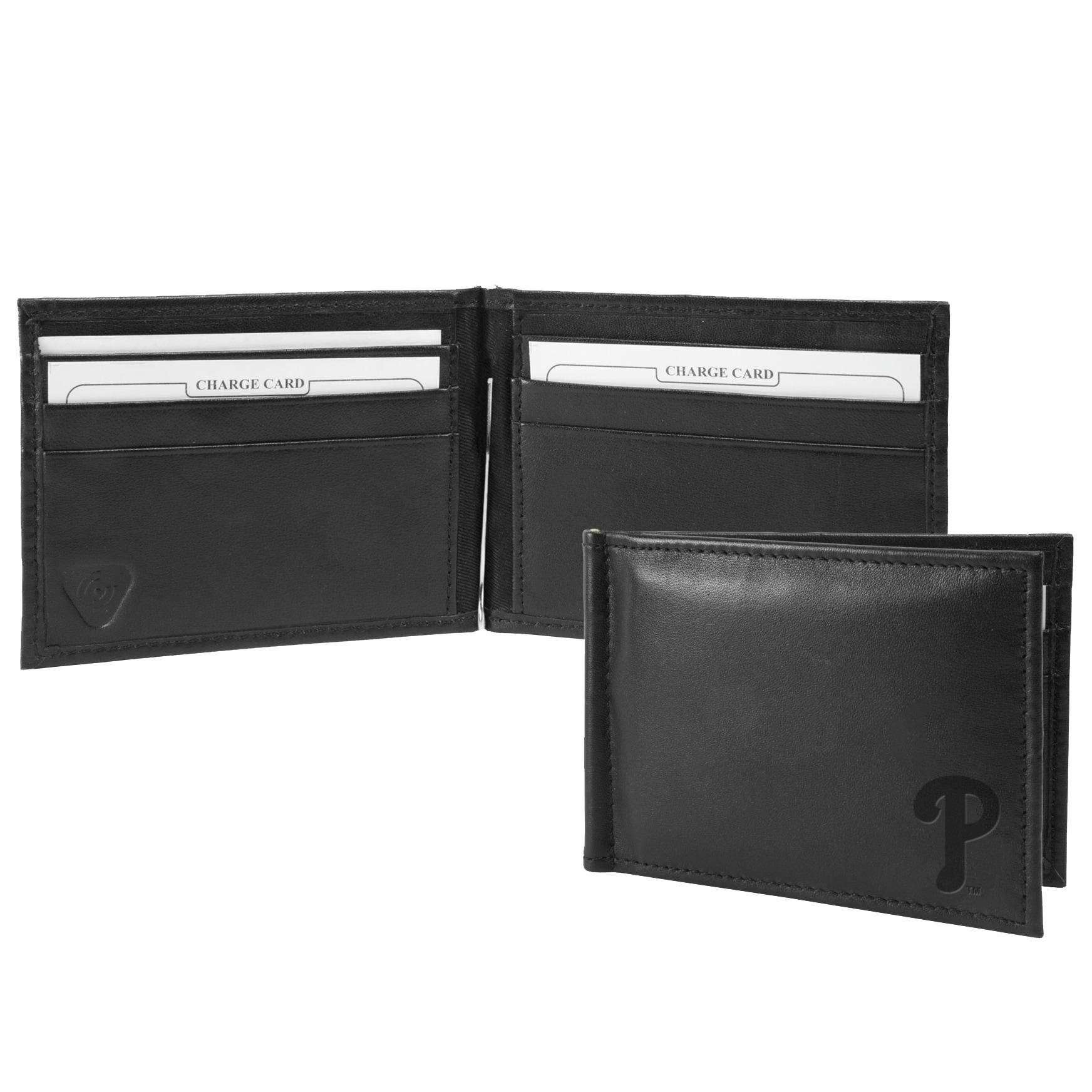 Philadelphia Phillies Shield Money Clip & Wallet - Black