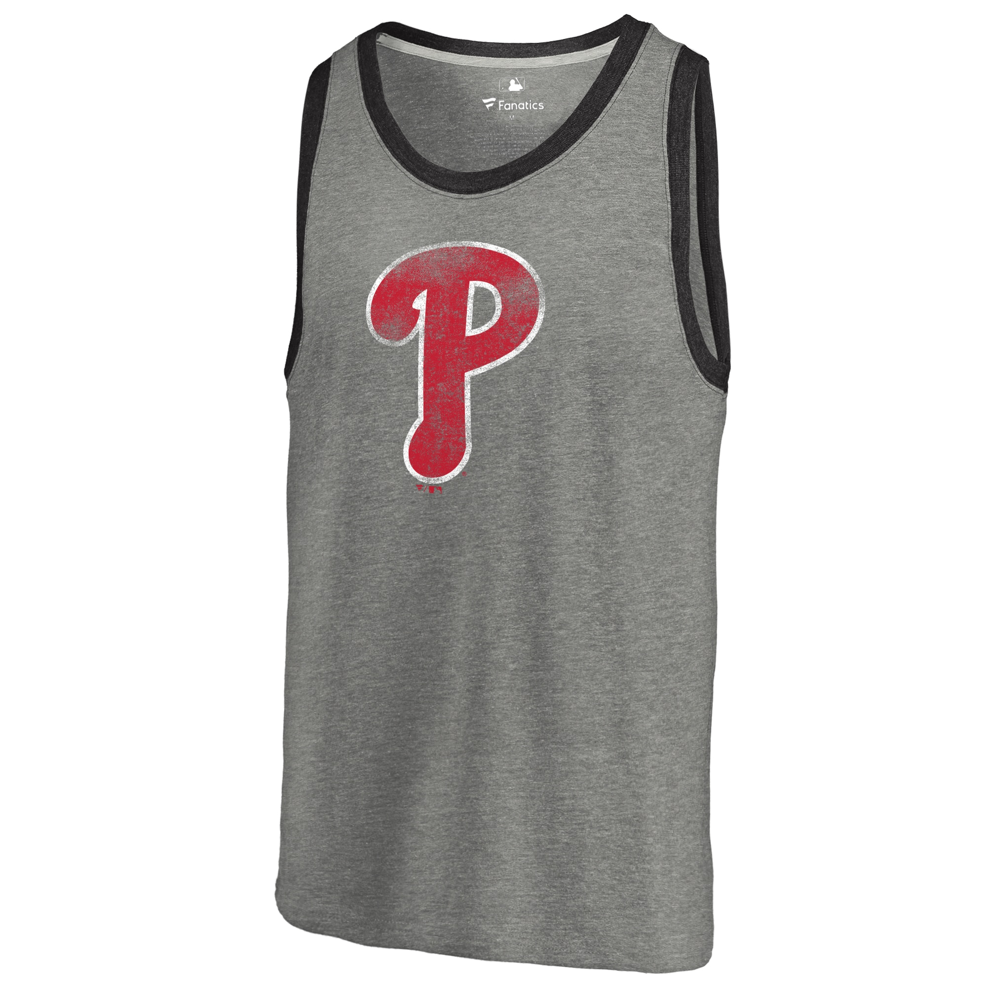Philadelphia Phillies Distressed Team Tank Top - Ash