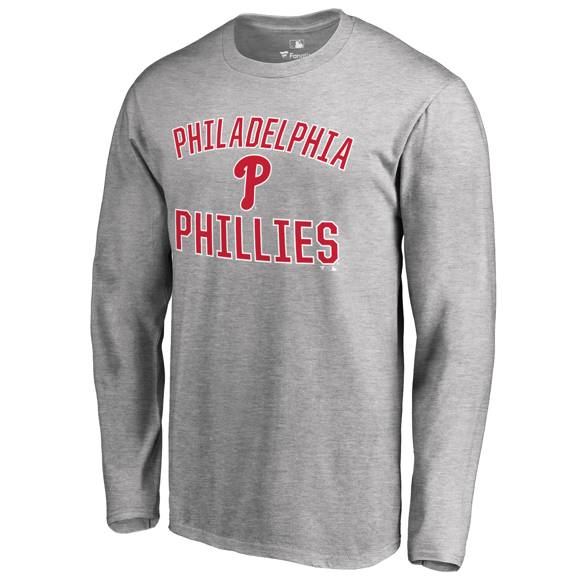 Philadelphia Phillies Victory Arch Long Sleeve T-Shirt - Ash