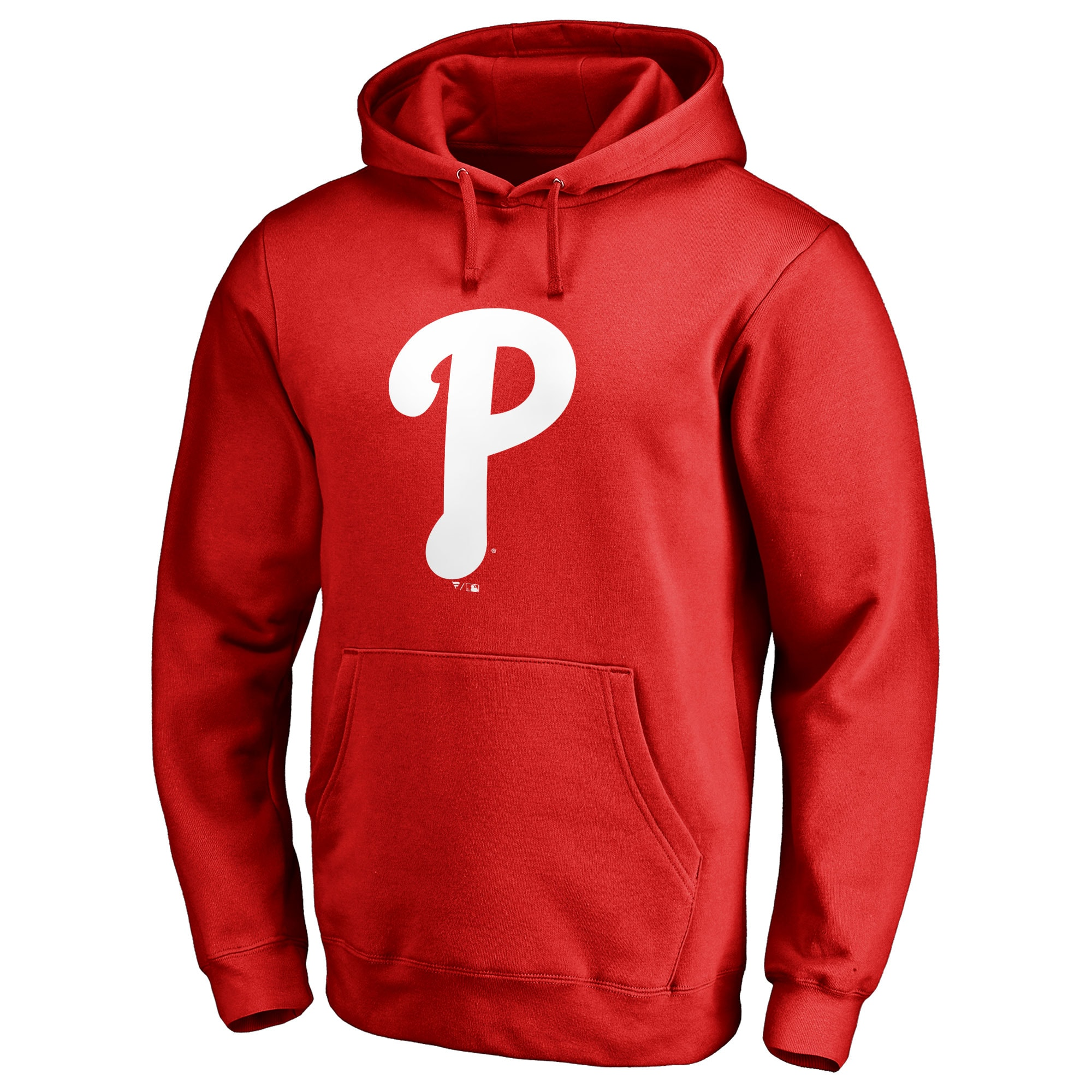 Philadelphia Phillies Team Color Primary Logo Pullover Hoodie - Red