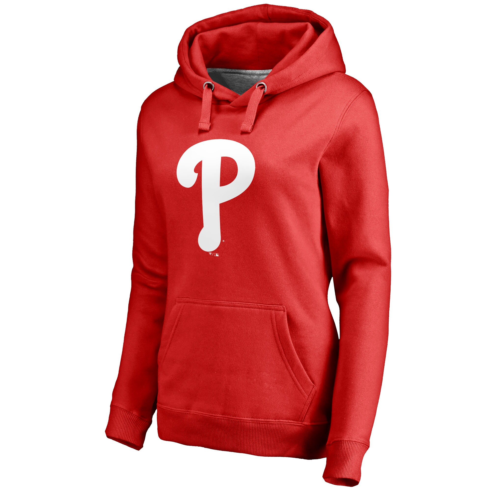 Philadelphia Phillies Women's Team Color Primary Logo Pullover Hoodie - Red