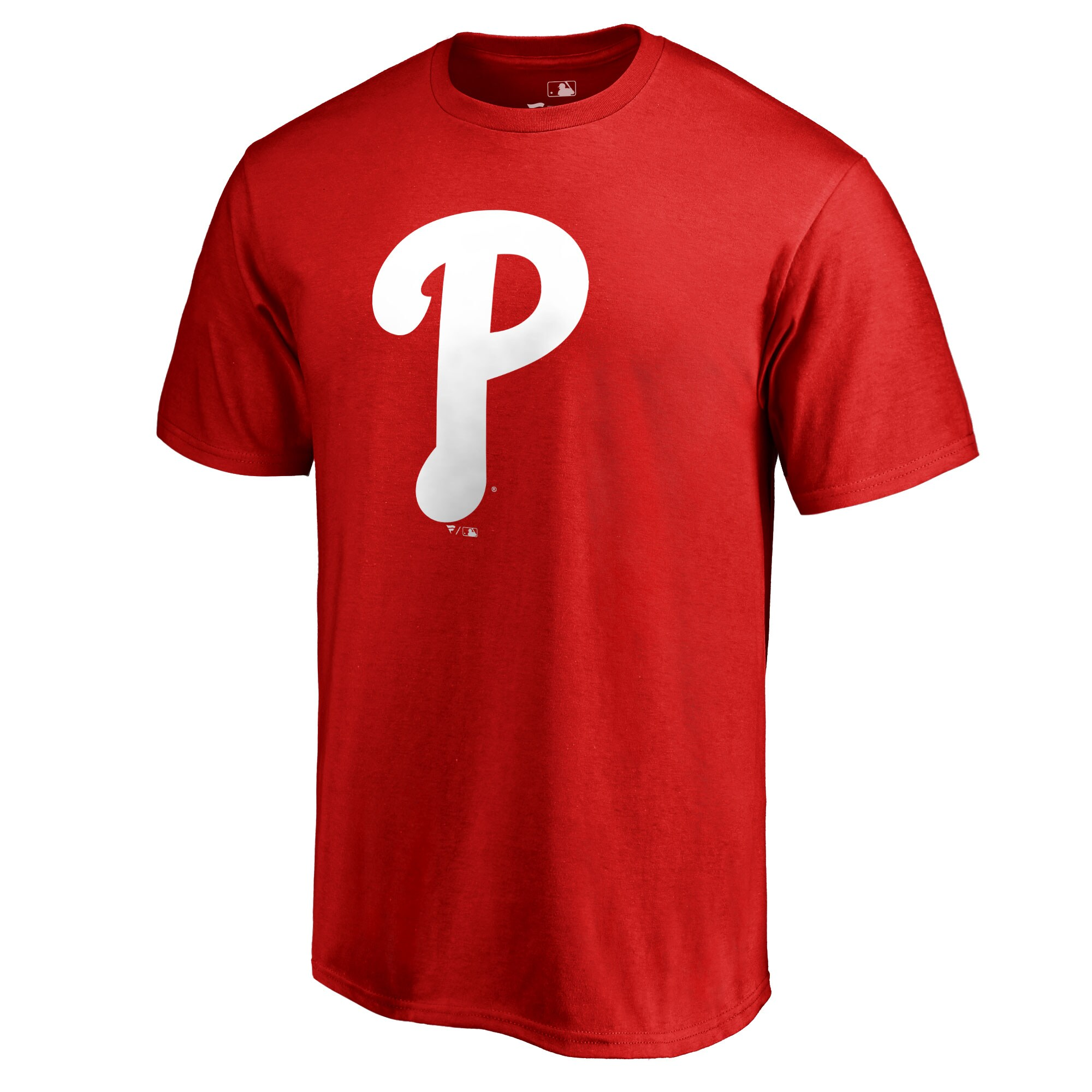 Philadelphia Phillies Team Color Primary Logo T-Shirt - Red