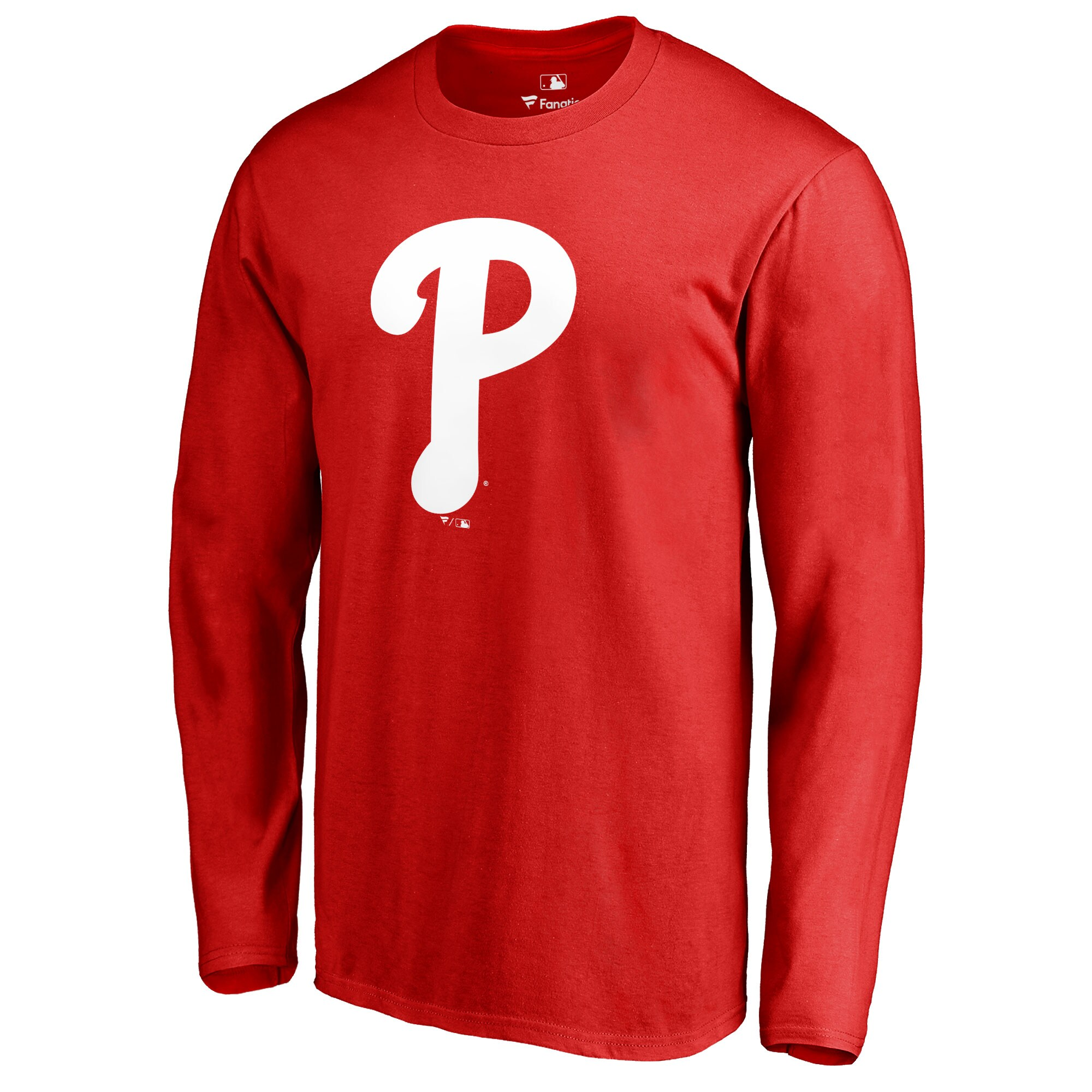 Philadelphia Phillies Team Color Primary Logo Long Sleeve T-Shirt - Red