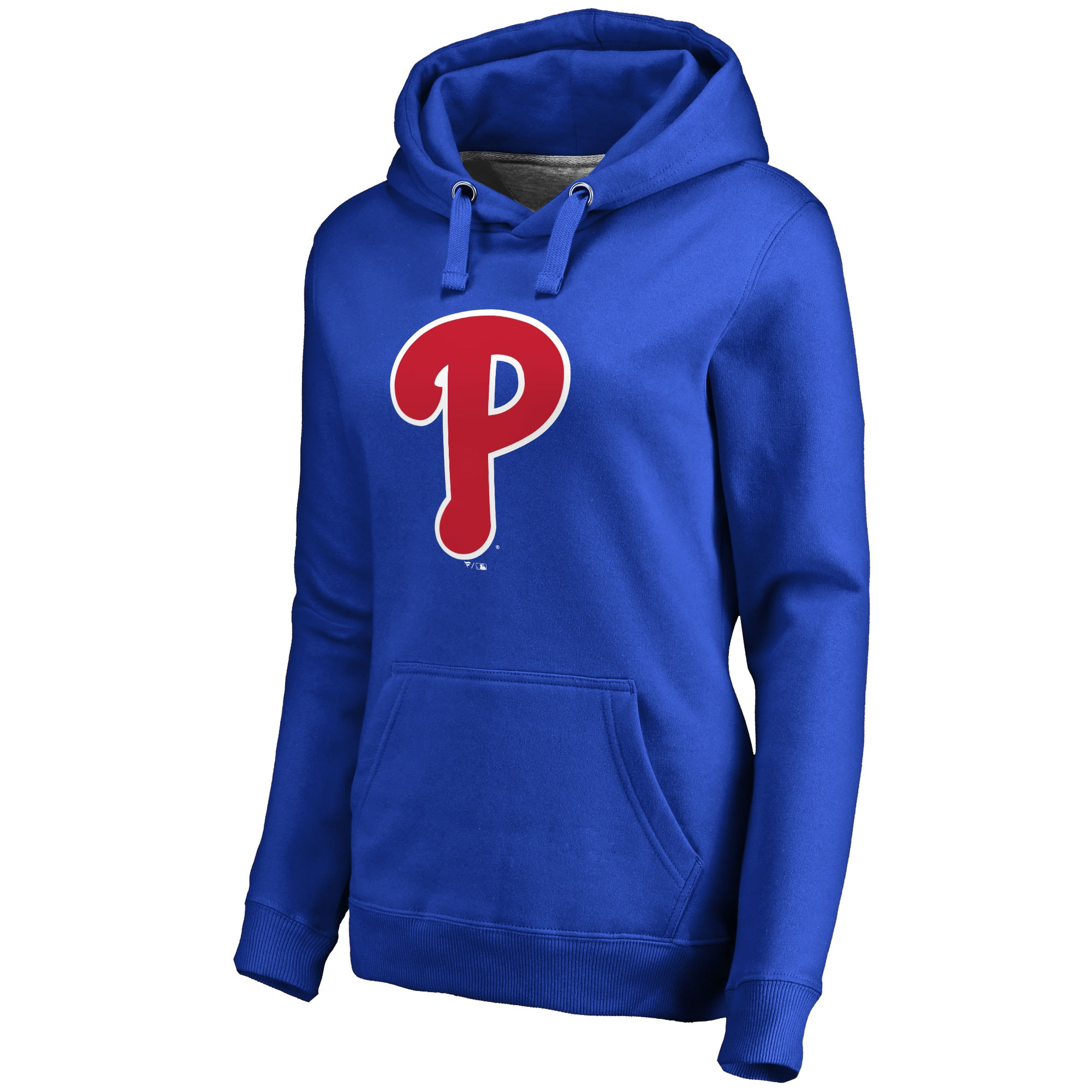 Philadelphia Phillies Women's Secondary Color Primary Logo Pullover Hoodie - Royal
