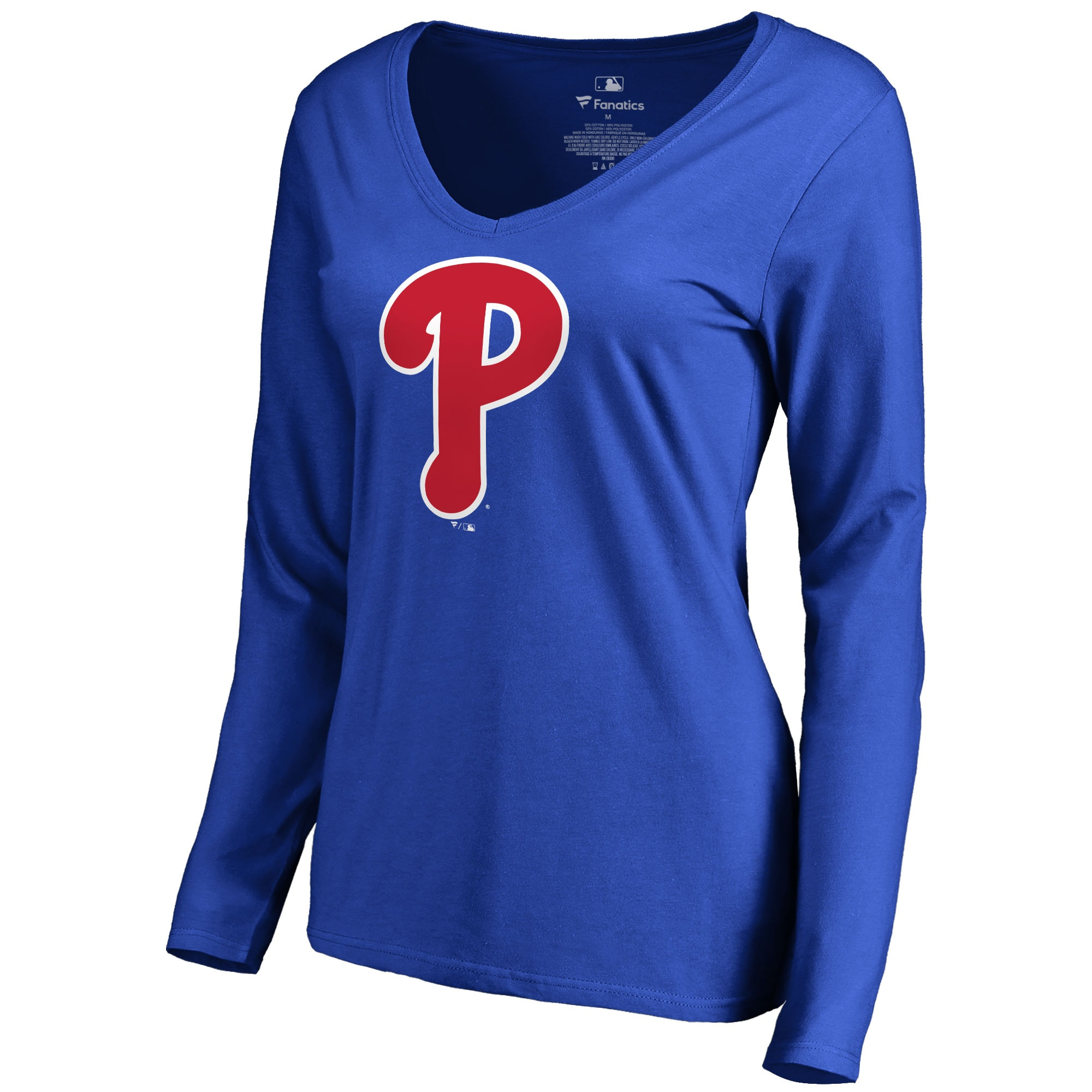 Philadelphia Phillies Women's Secondary Color Primary Logo Long Sleeve T-Shirt - Royal