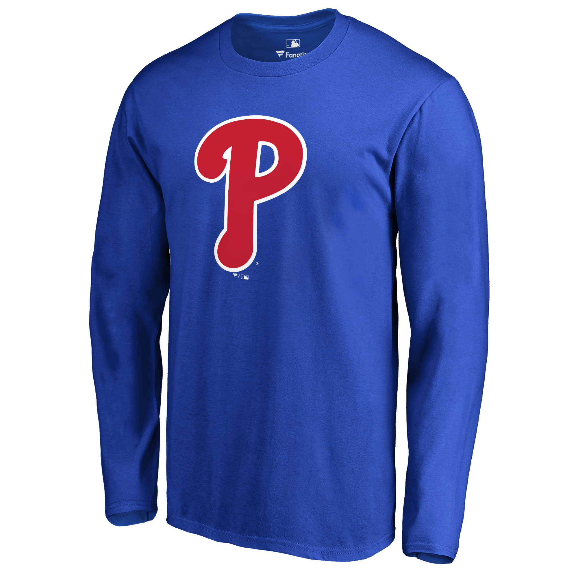 Philadelphia Phillies Secondary Color Primary Logo Long Sleeve T-Shirt - Royal