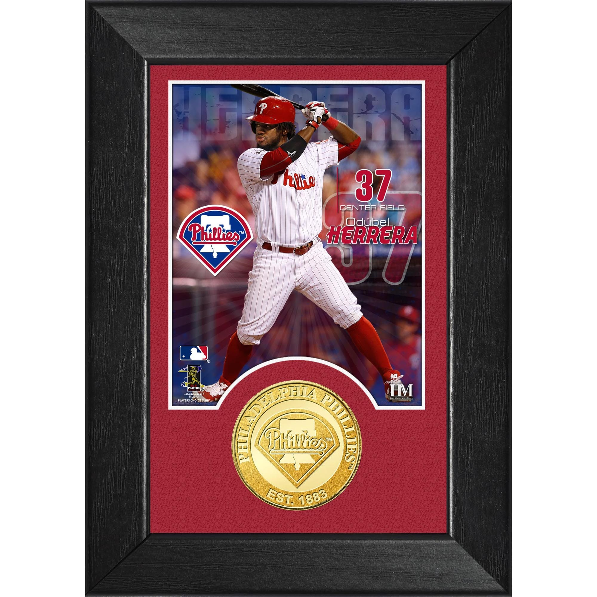 "Odubel Herrera Philadelphia Phillies Highland Mint 5"" x 7"" Player M-Series Photomint"