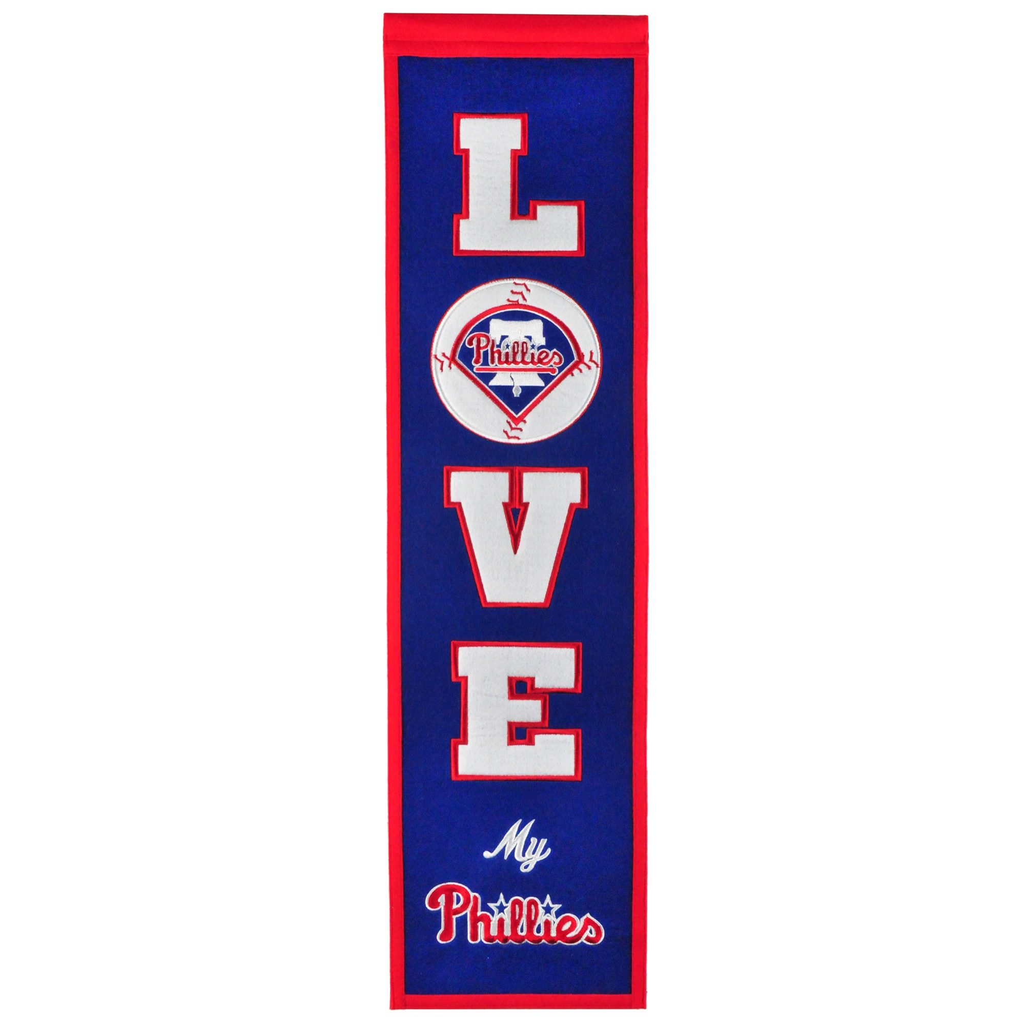 Philadelphia Phillies 8'' x 32'' Love Banner