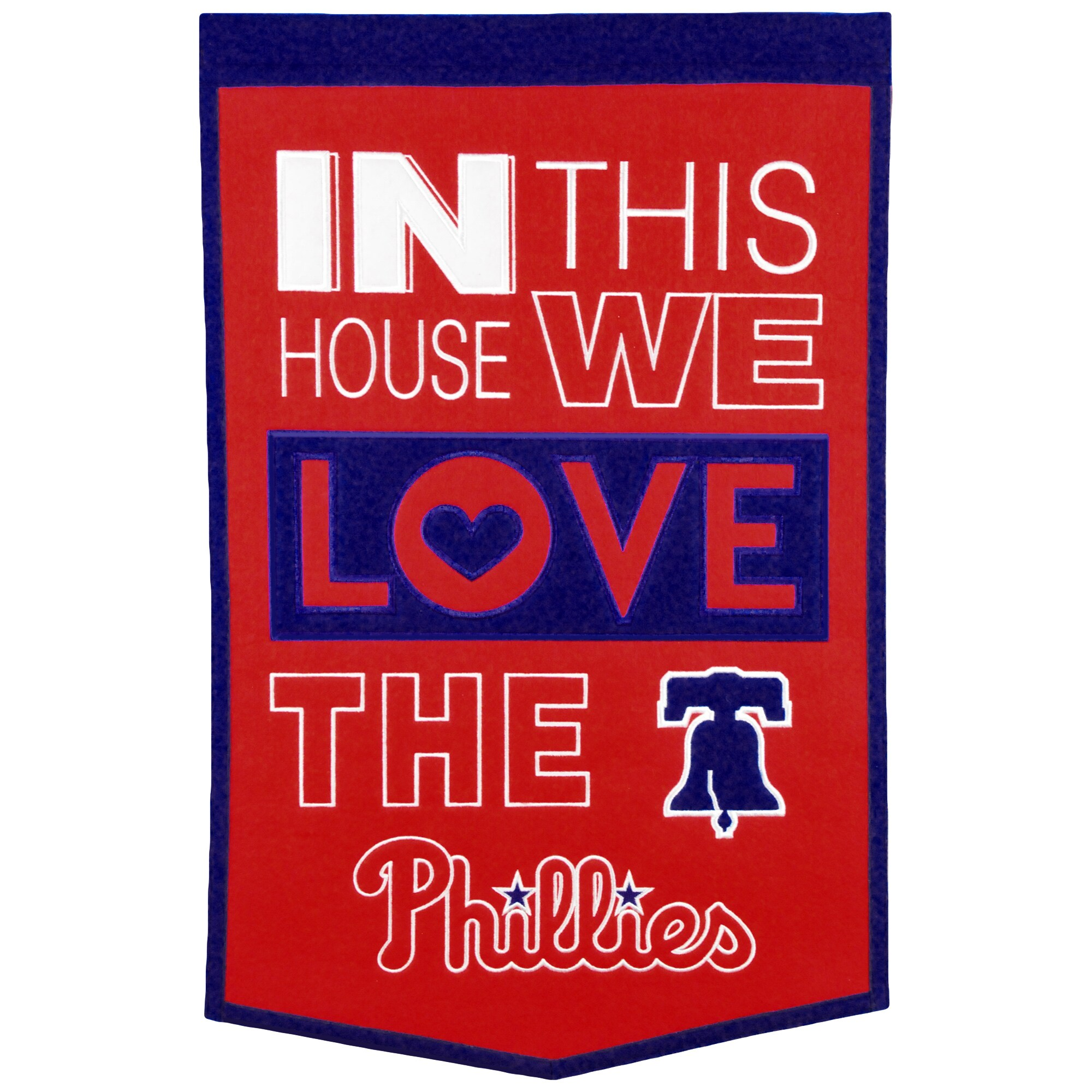 Philadelphia Phillies 15'' x 24'' Home Banner - Red/Royal