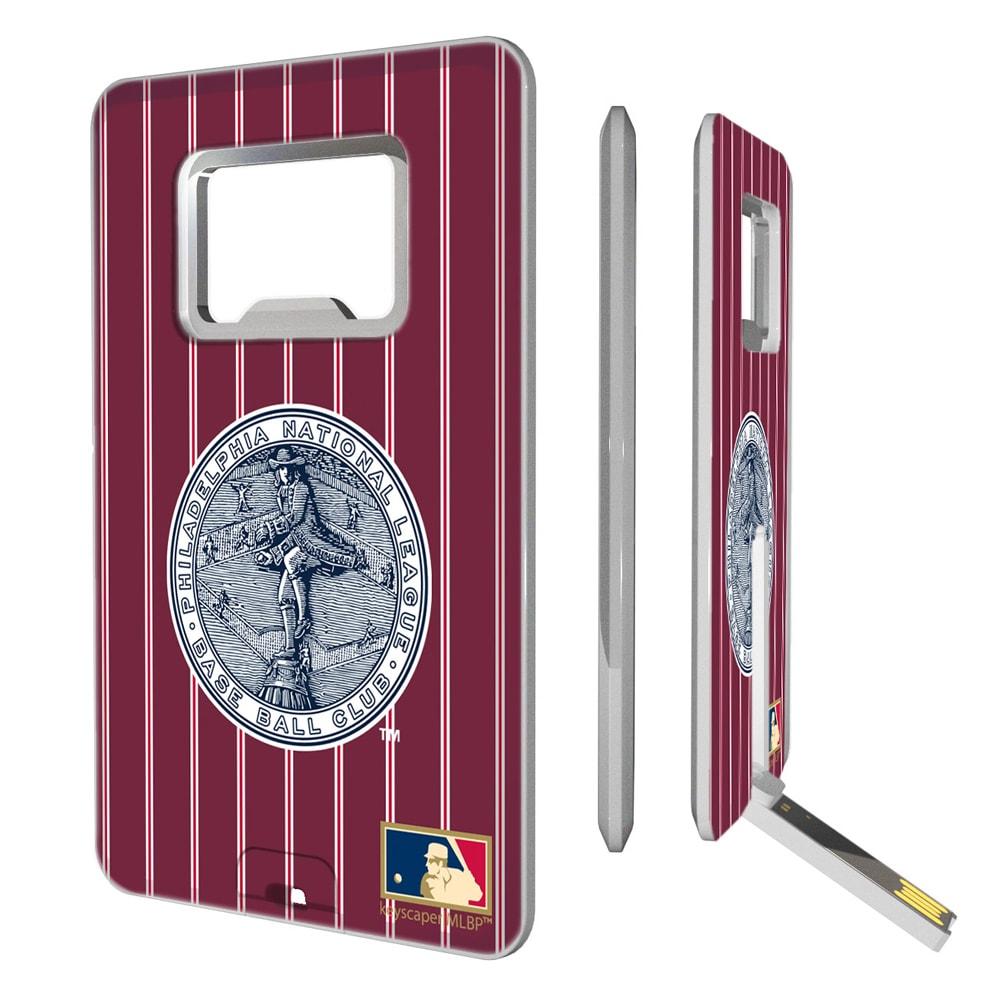 Philadelphia Phillies 1915-1943 Cooperstown Pinstripe Credit Card USB Drive & Bottle Opener