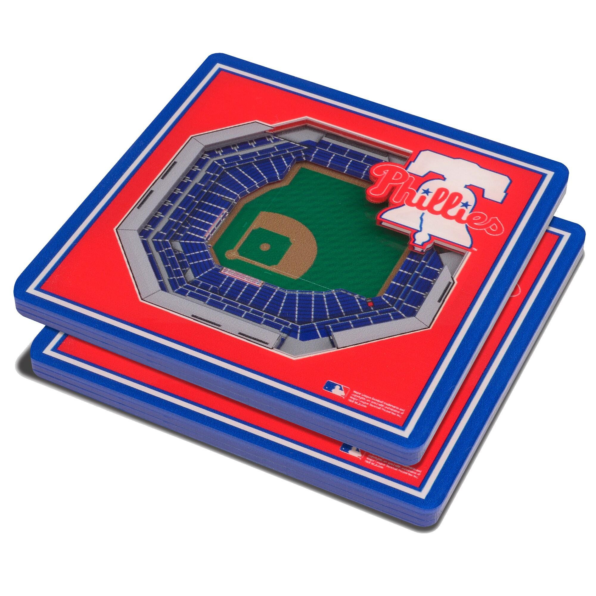 Philadelphia Phillies 3D StadiumViews Coasters - Red