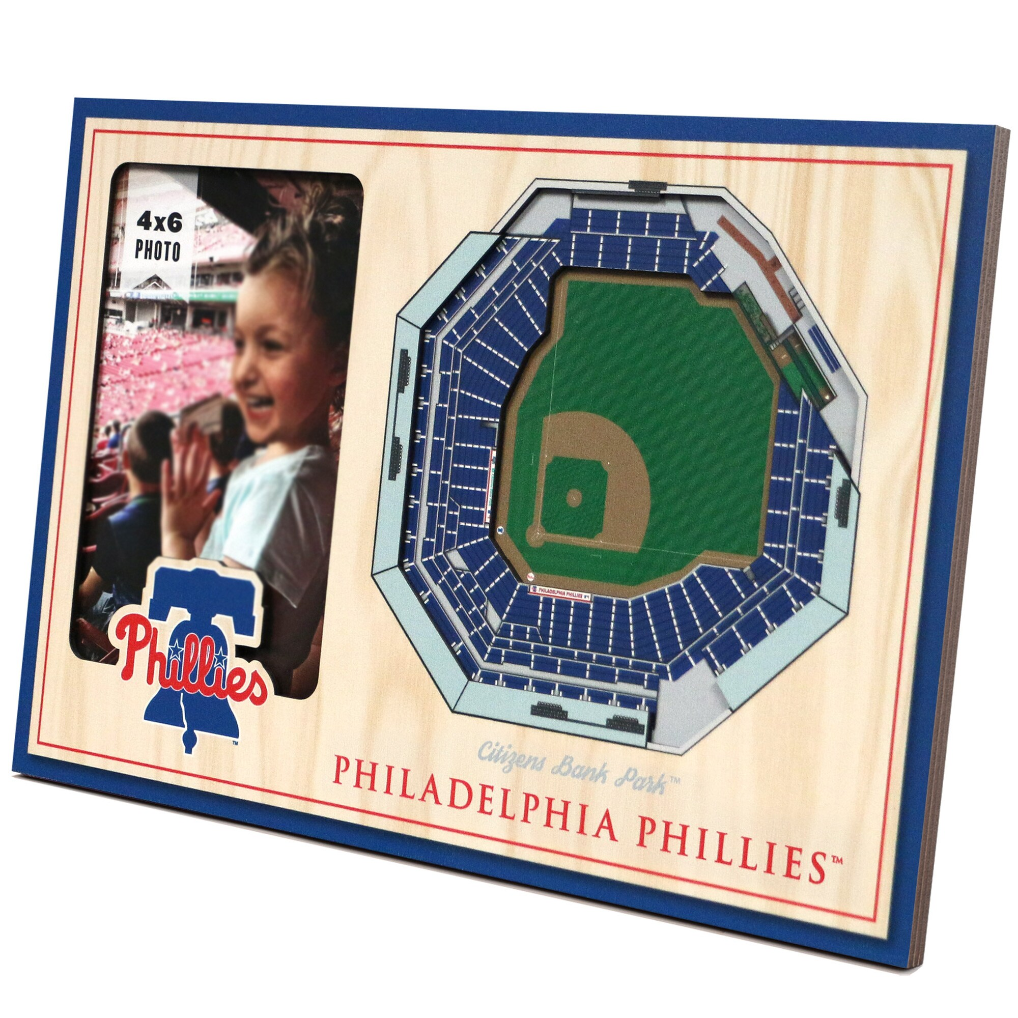 Philadelphia Phillies 3D StadiumViews Picture Frame - Brown