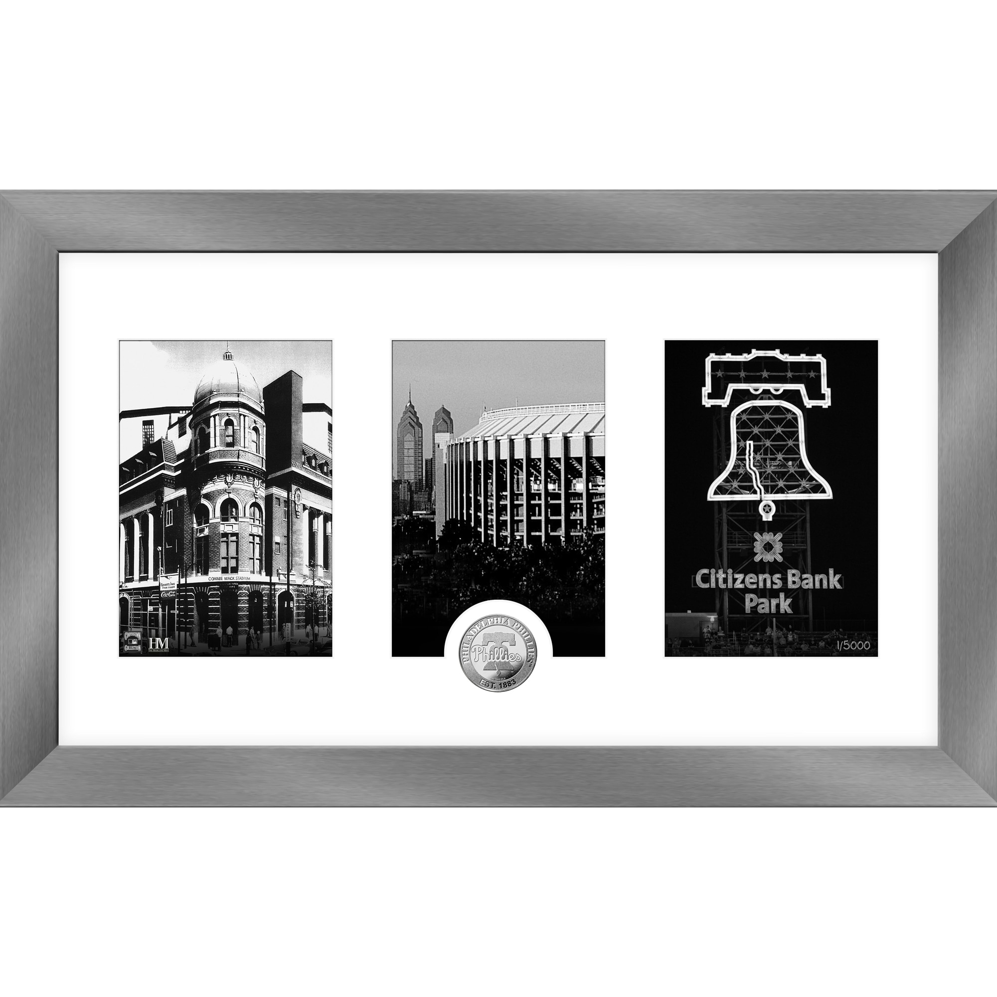 Philadelphia Phillies Highland Mint 12'' x 20'' Art Deco Silver Coin Photo Mint