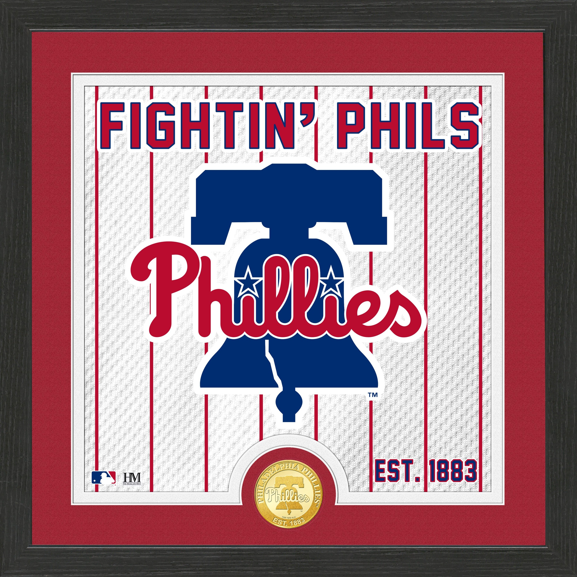 Philadelphia Phillies Highland Mint 13'' x 13'' Battle Cry Bronze Coin Photo Mint