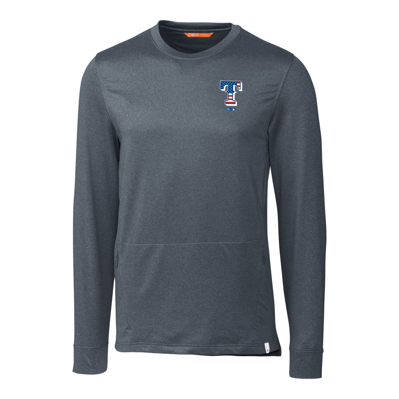 Texas Rangers Cutter & Buck Stars & Stripes Jackson Pullover Sweater - Navy