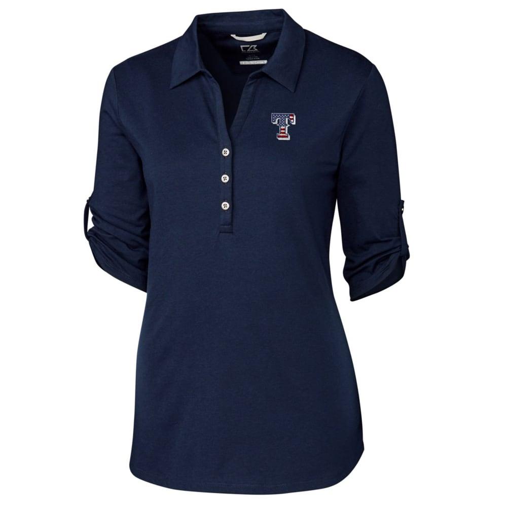 Texas Rangers Cutter & Buck Women's Thrive 3/4 Sleeve Polo - Navy