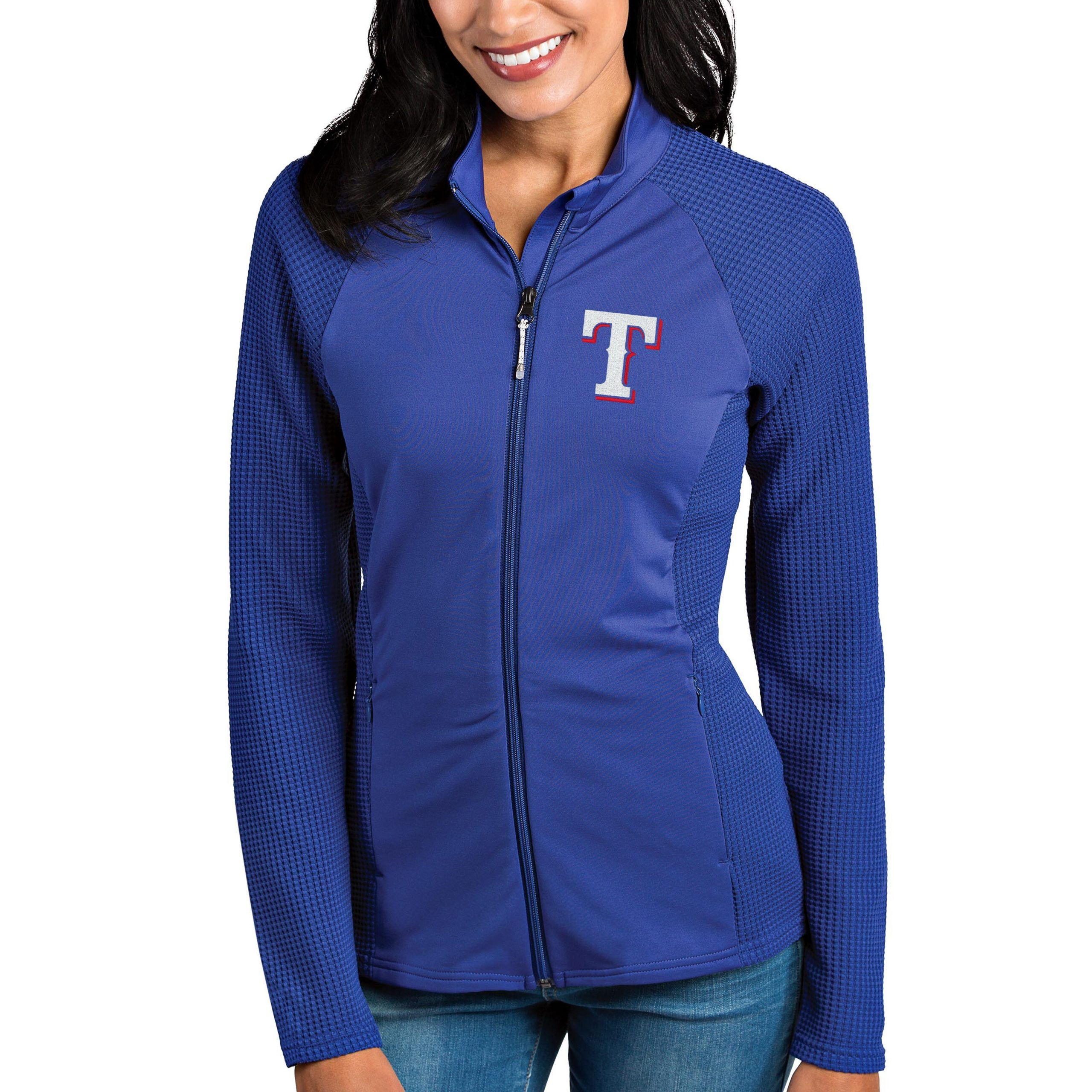 Texas Rangers Antigua Women's Sonar Full-Zip Jacket - Royal