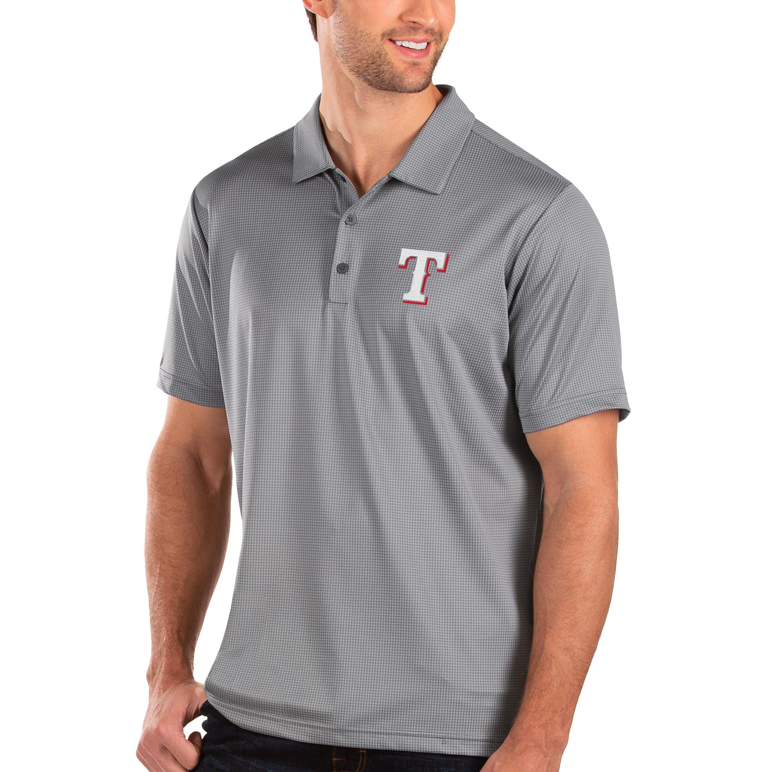 Texas Rangers Antigua Balance Polo - Gray