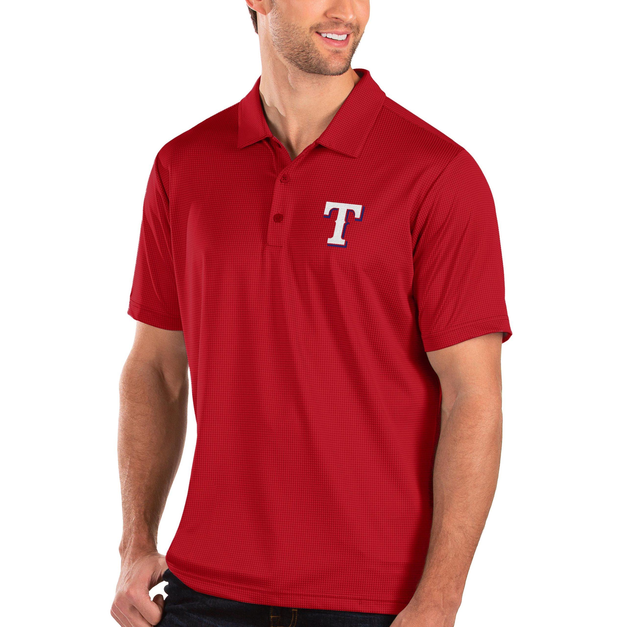 Texas Rangers Antigua Balance Polo - Red