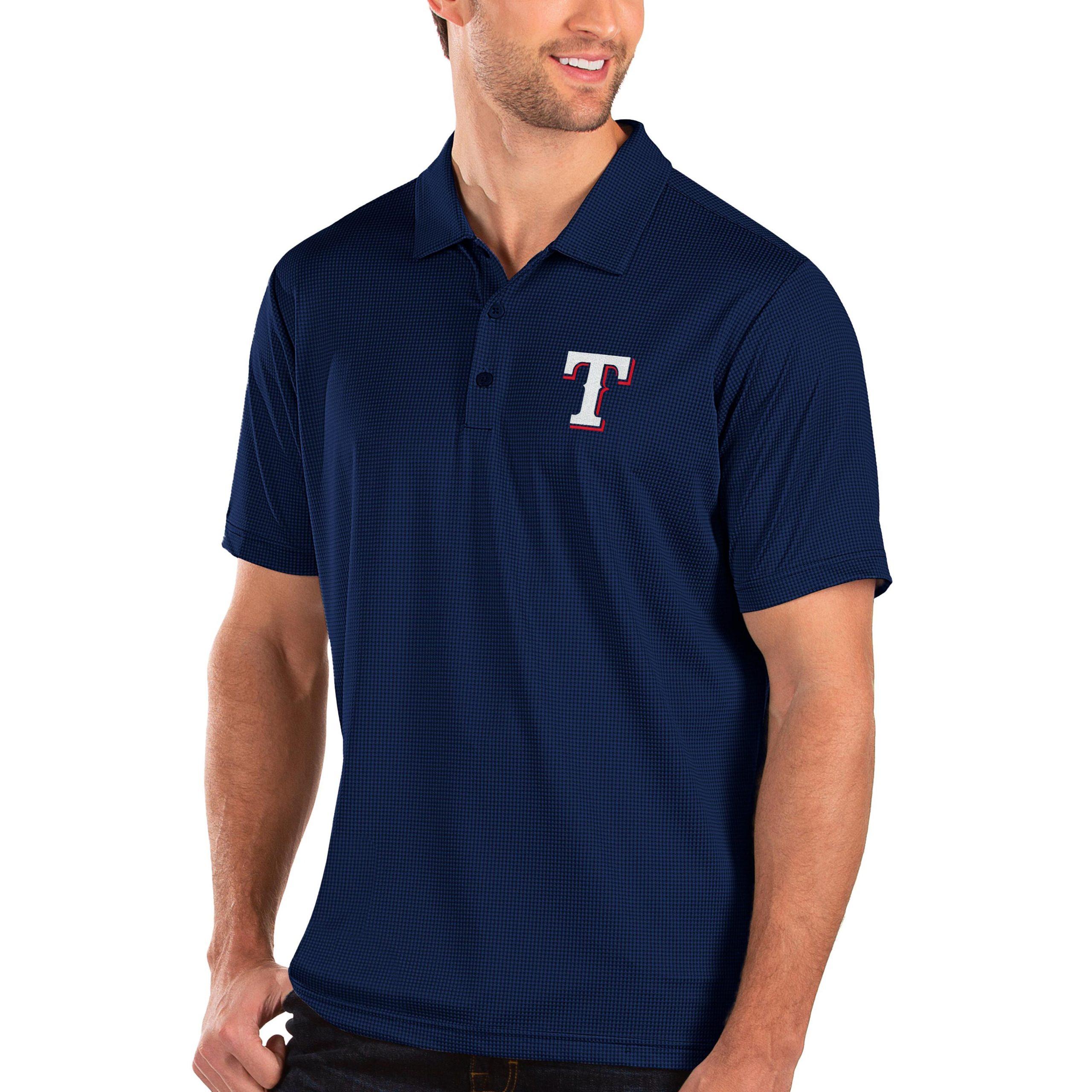 Texas Rangers Antigua Balance Polo - Royal