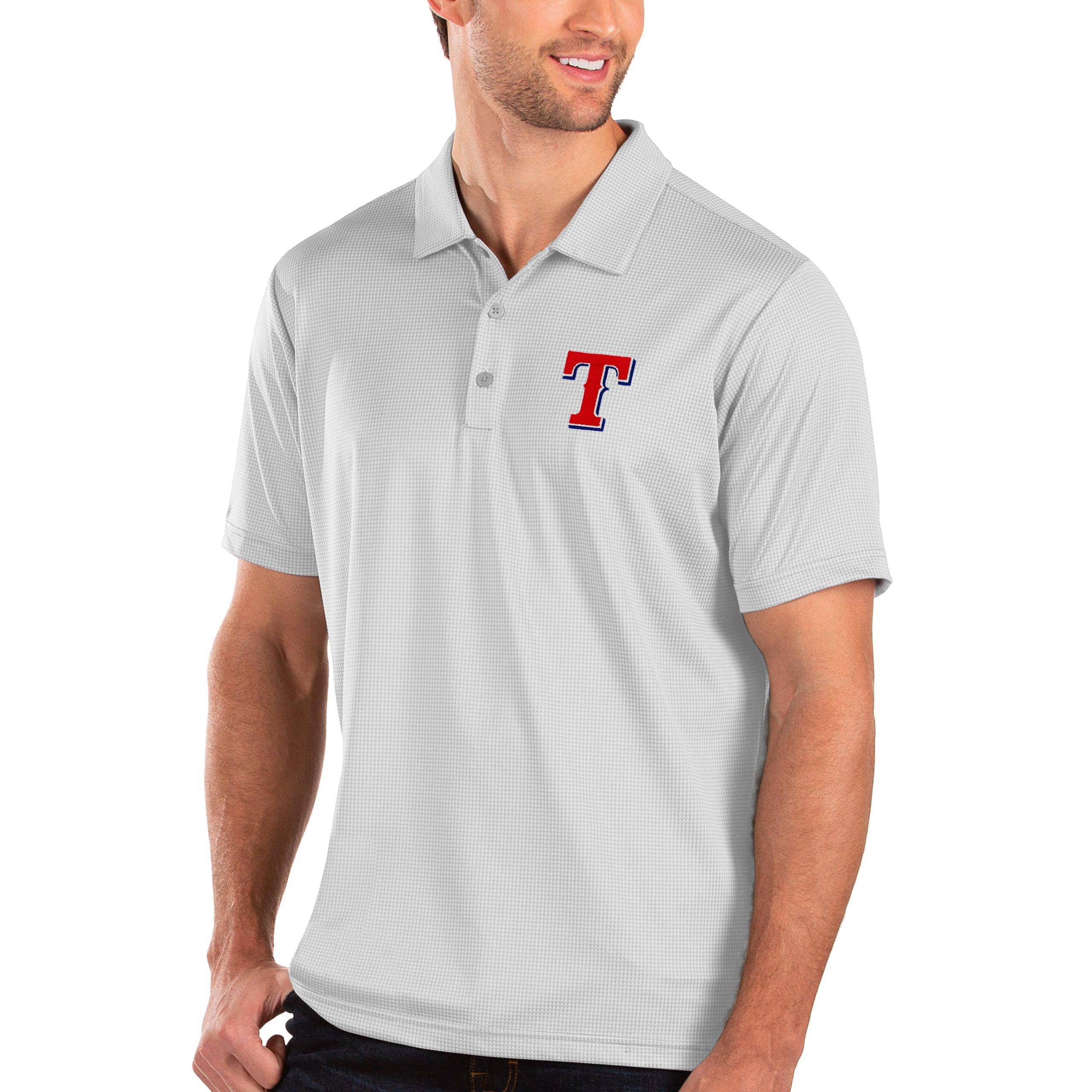 Texas Rangers Antigua Balance Polo - White