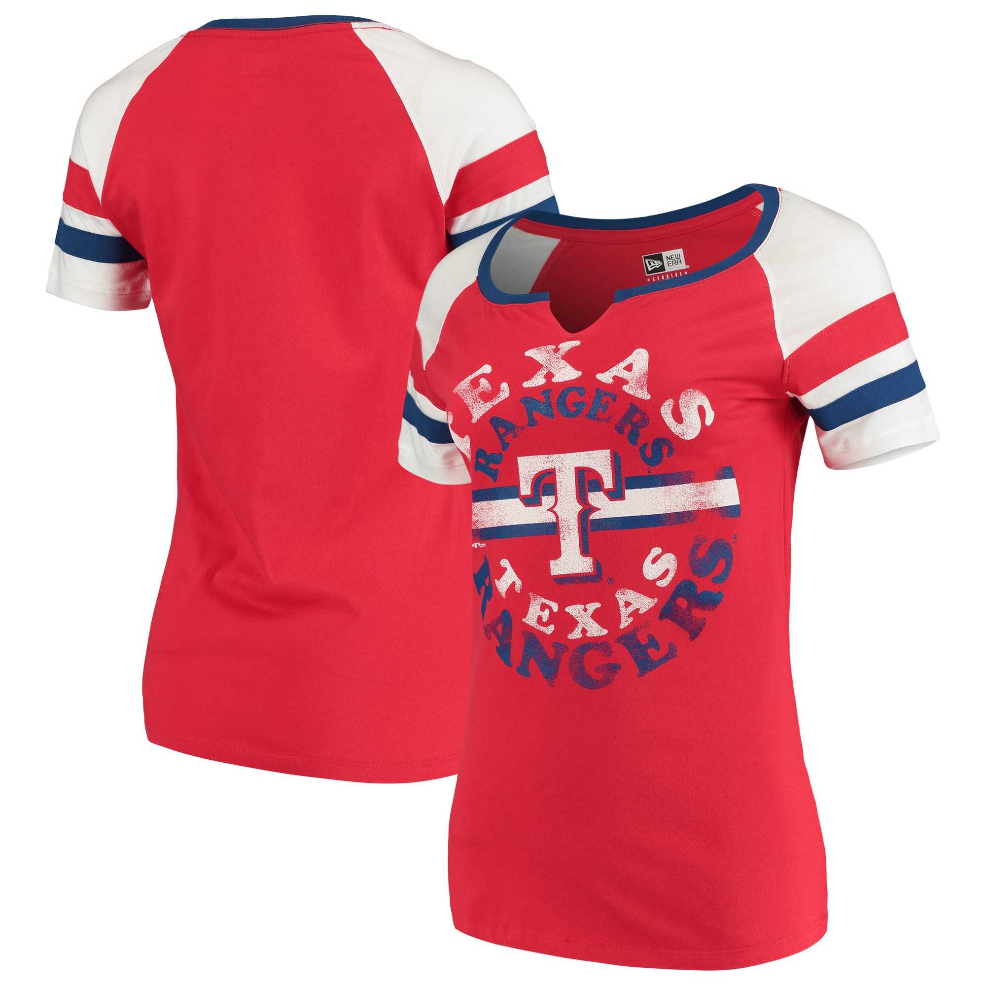 Texas Rangers New Era Women's Scoop Neck T-Shirt - Red