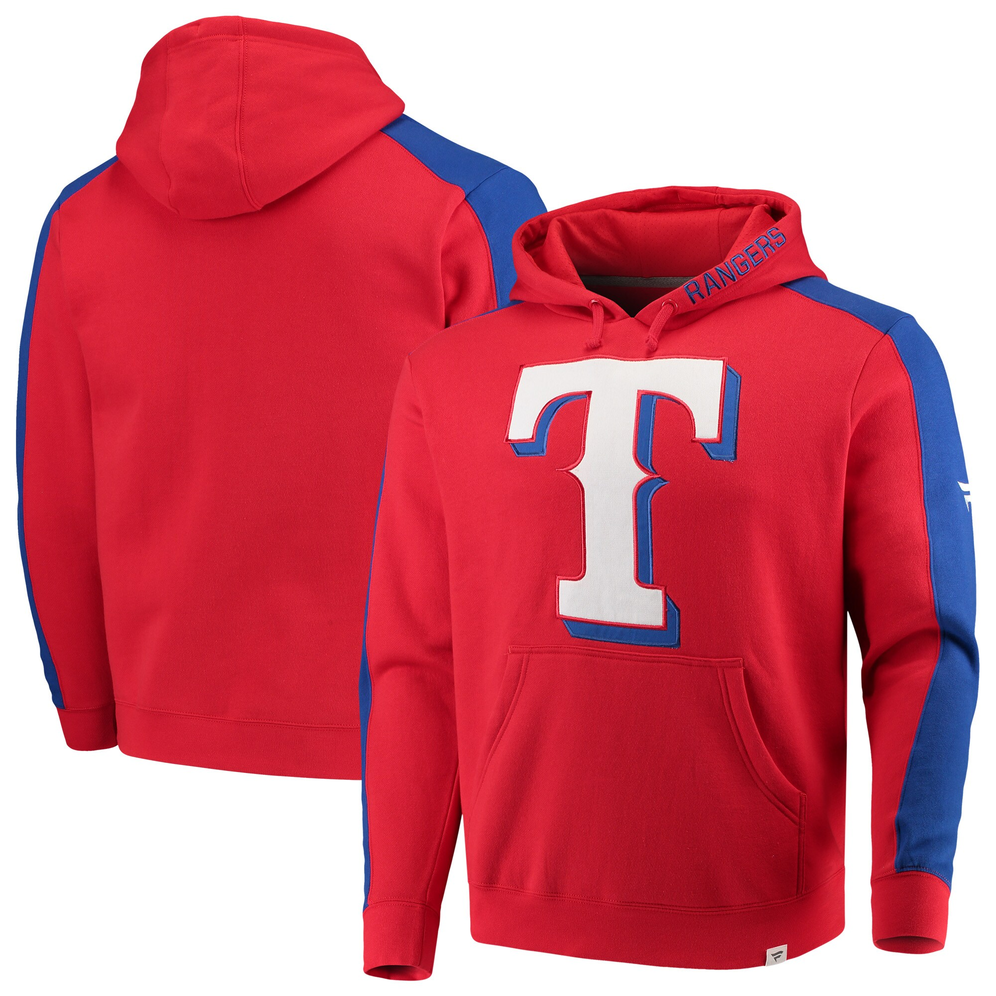 Texas Rangers Fanatics Branded Iconic Fleece Pullover Hoodie - Red/Royal