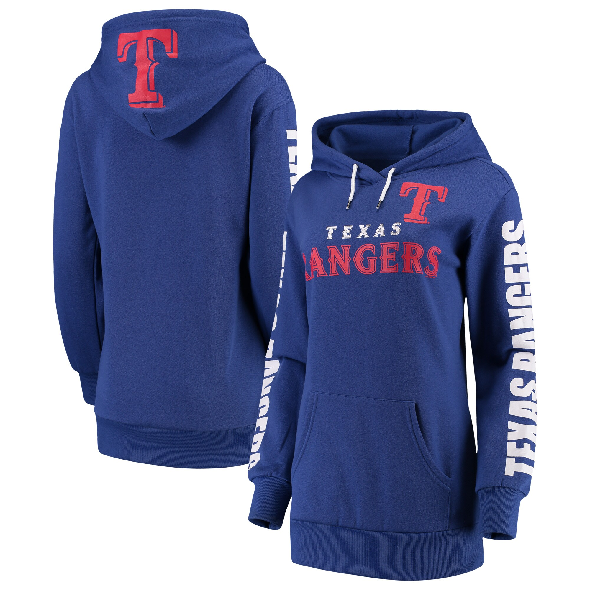 Texas Rangers G-III 4Her by Carl Banks Women's Extra Innings Pullover Hoodie - Royal