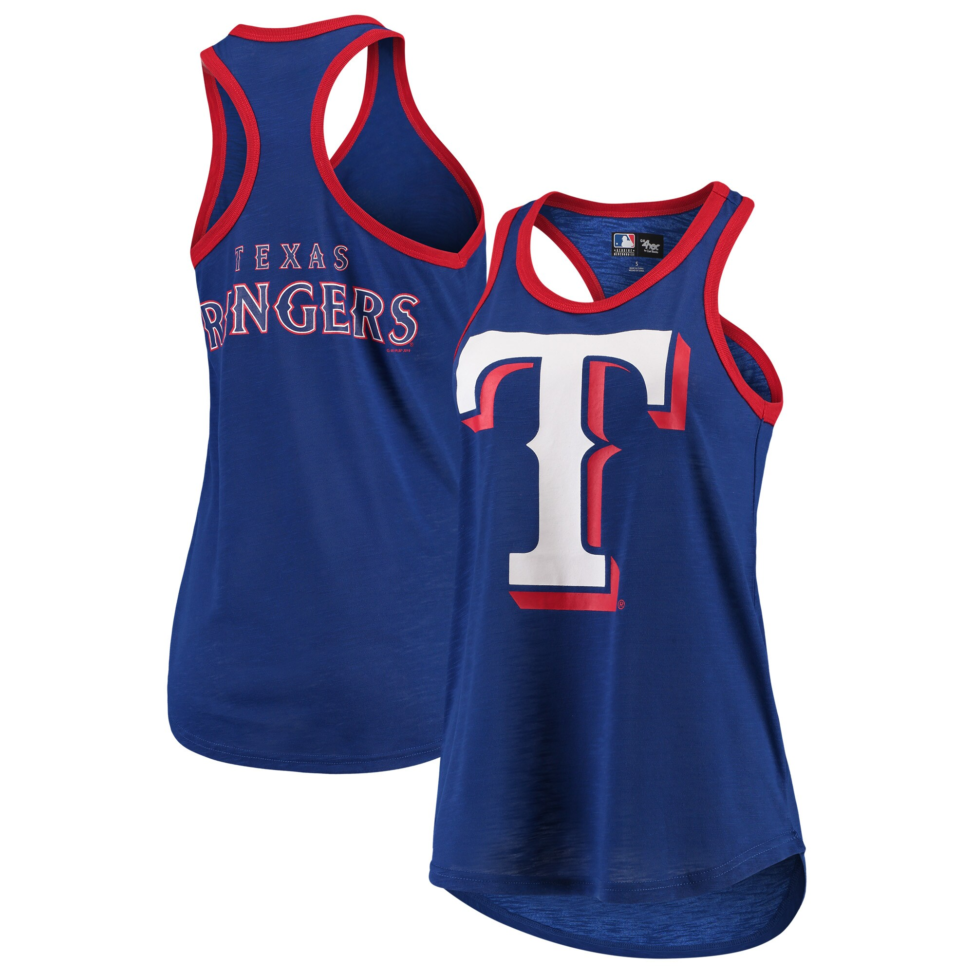 Texas Rangers G-III 4Her by Carl Banks Women's Team Color Tater Tank Top - Royal