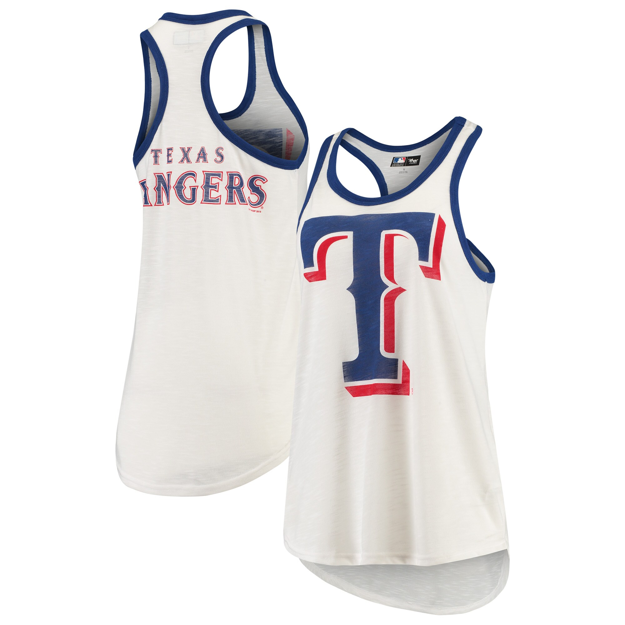 Texas Rangers G-III 4Her by Carl Banks Women's Tater Racerback Tank Top - White