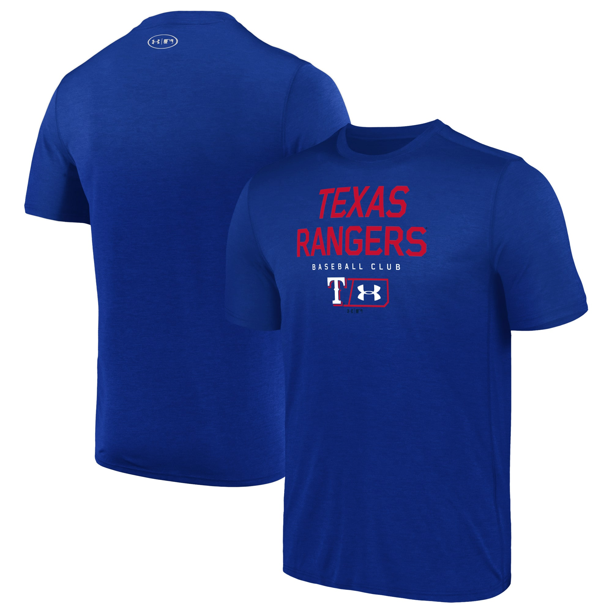 Texas Rangers Under Armour City Proud Performance T-Shirt - Royal