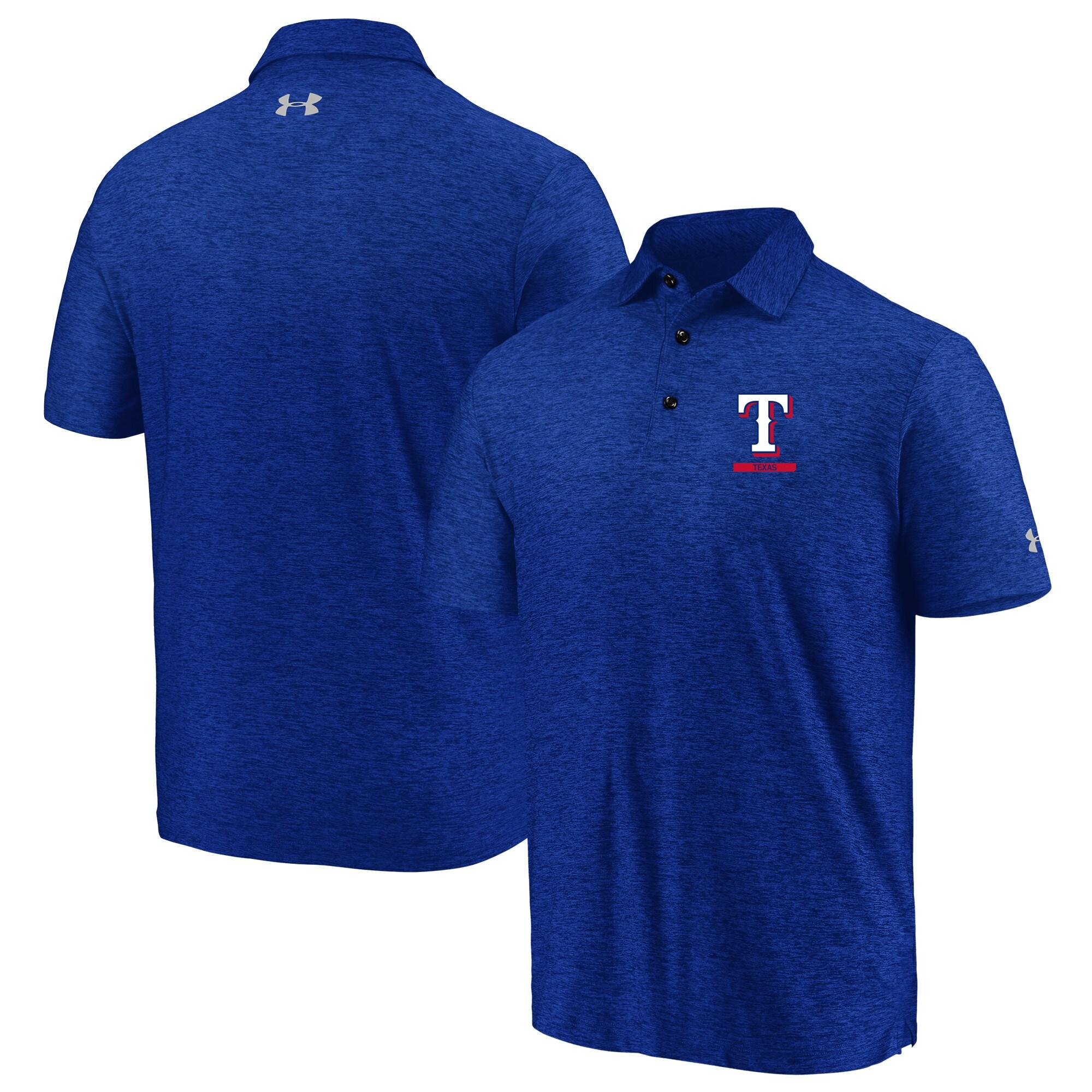 Texas Rangers Under Armour City Underline Polo - Royal