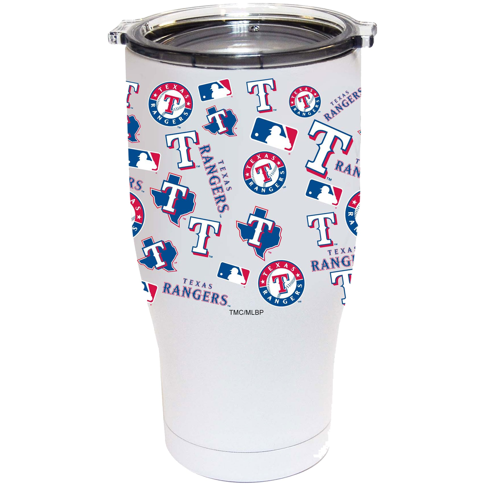 Texas Rangers 24oz. Powder Coated Full Wrap Tumbler