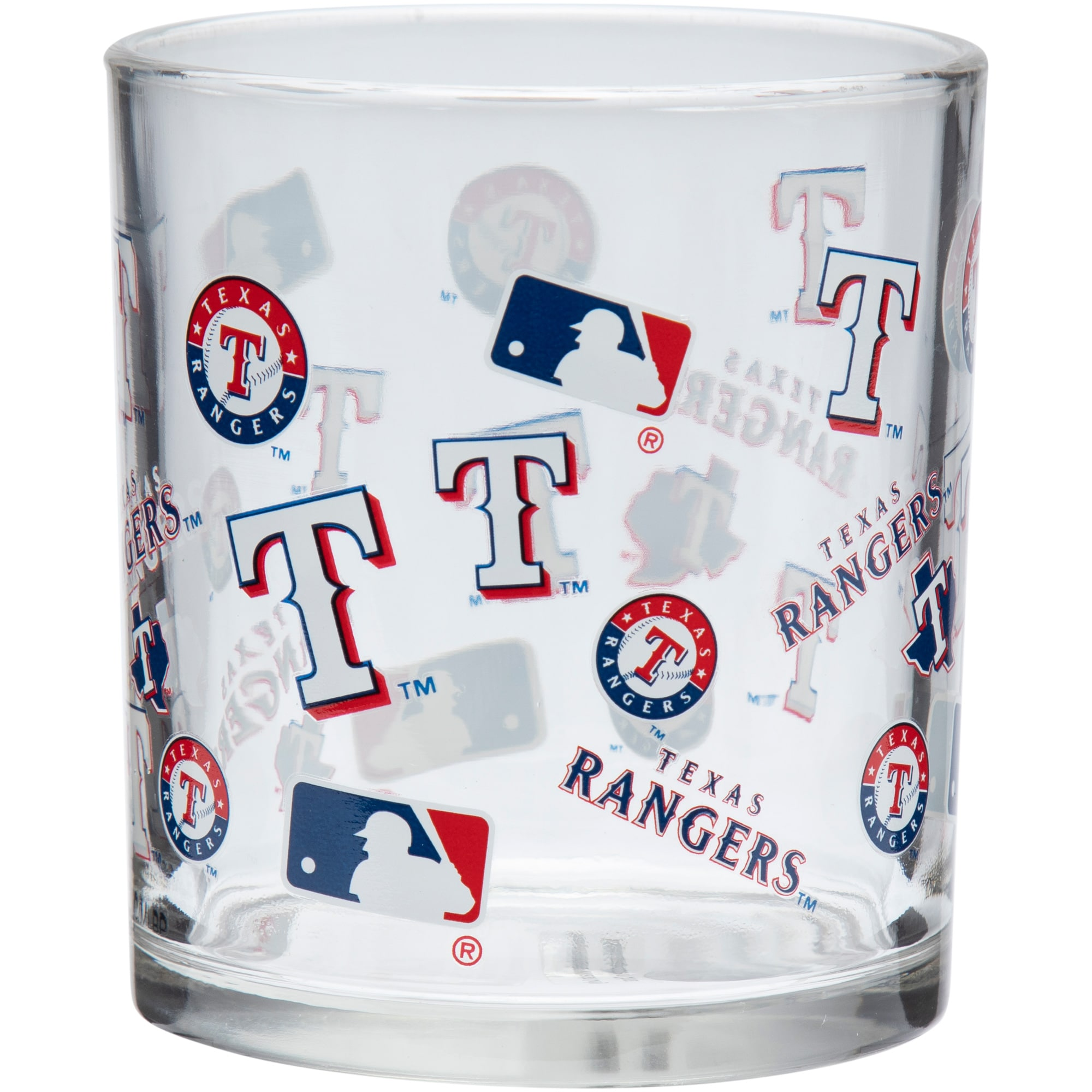 Texas Rangers 8.45oz. Full Wrap Rocks Glass