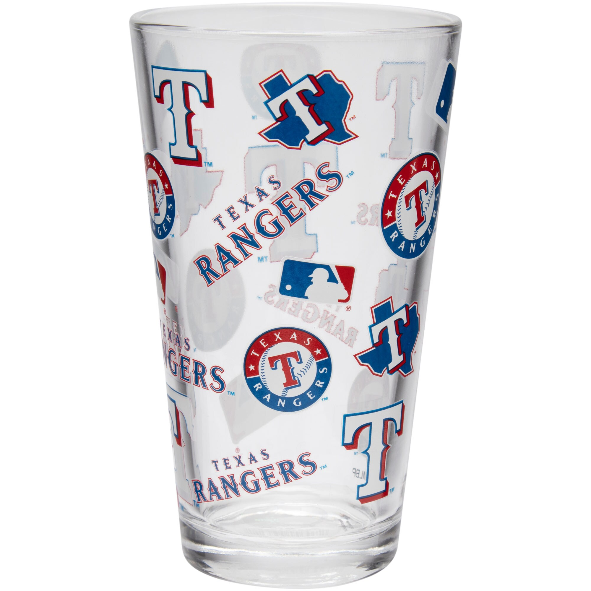 Texas Rangers Full Wrap Pint Glass