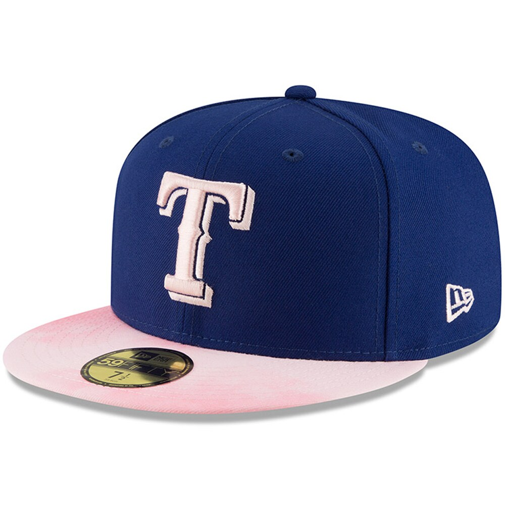 Texas Rangers New Era 2019 Mother's Day On-Field 59FIFTY Fitted Hat - Royal/Pink