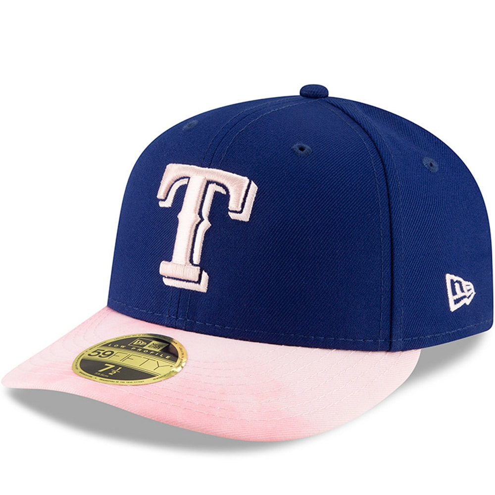 Texas Rangers New Era 2019 Mother's Day On-Field Low Profile 59FIFTY Fitted Hat - Royal/Pink