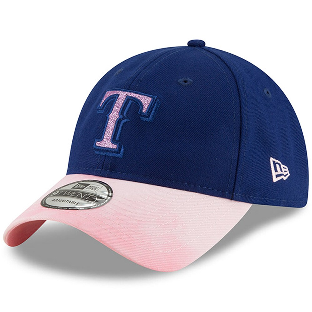 Texas Rangers New Era Women's 2019 Mother's Day Team Glisten 9TWENTY Adjustable Hat - Royal/Pink