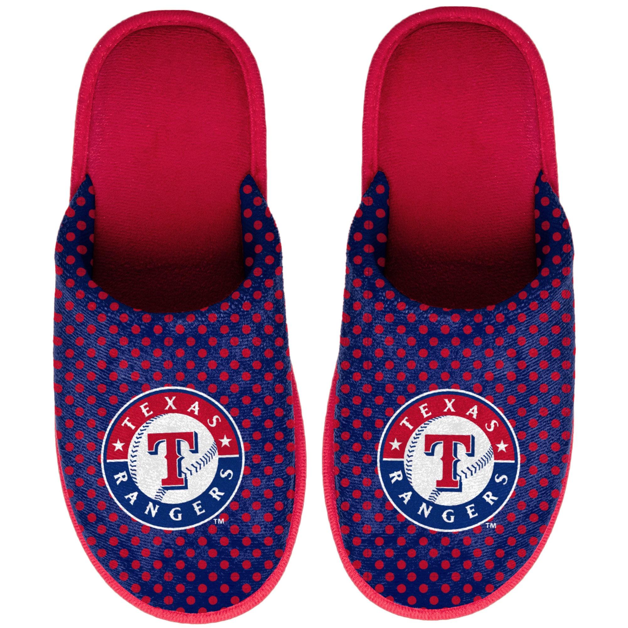 Texas Rangers Women's Big Logo Scuff Slippers