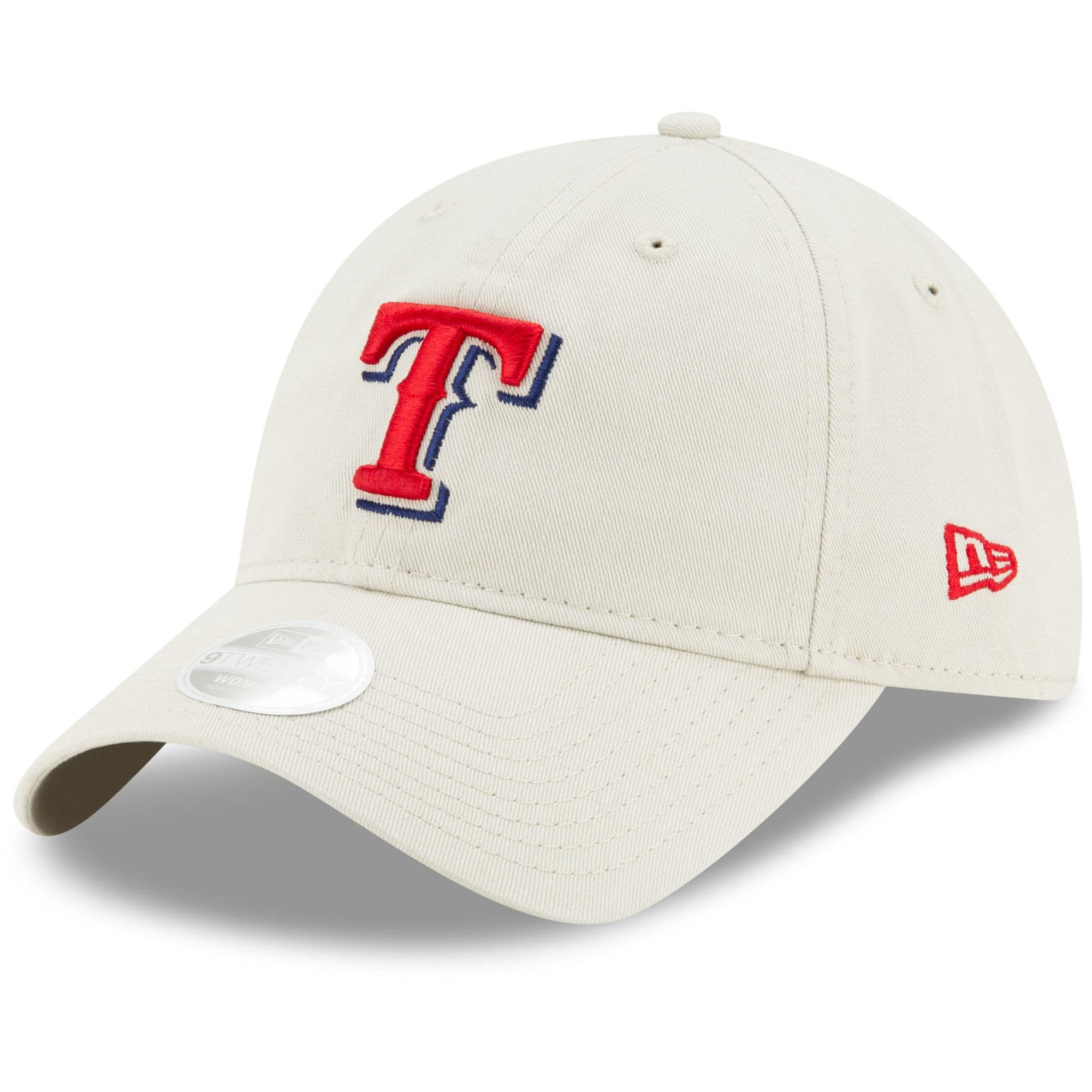 Texas Rangers New Era Women's Stone Core Classic 9TWENTY Adjustable Hat - Khaki