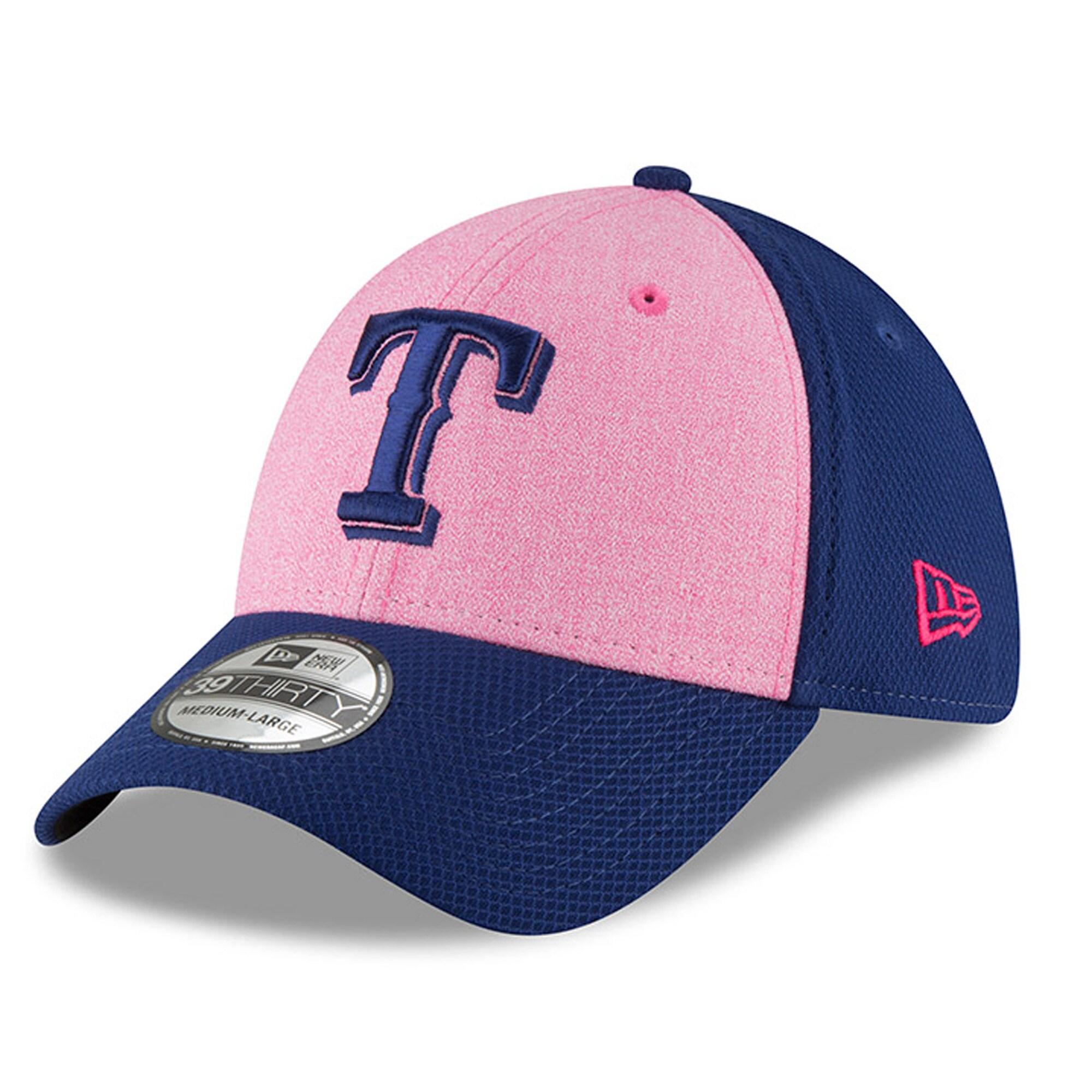 Texas Rangers New Era 2018 Mother's Day 39THIRTY Flex Hat - Pink