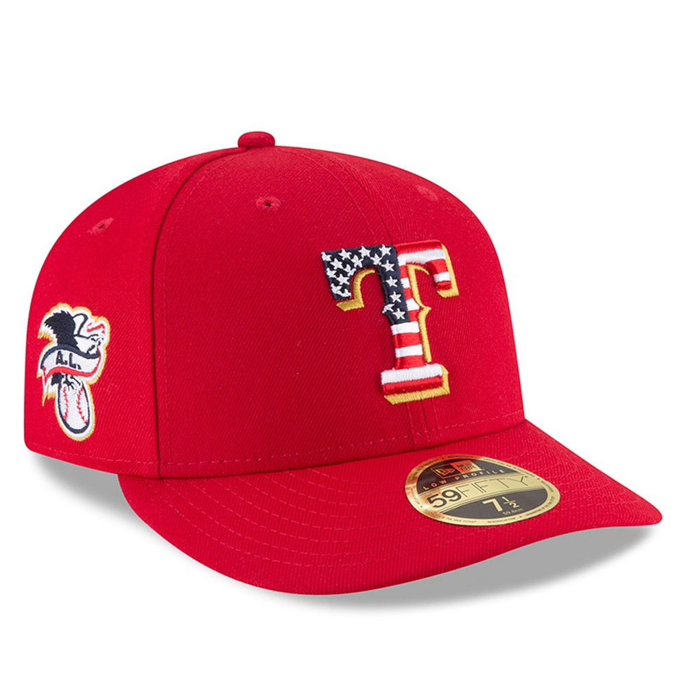 Texas Rangers New Era 2018 Stars & Stripes 4th of July On-Field Low Profile 59FIFTY Fitted Hat - Red