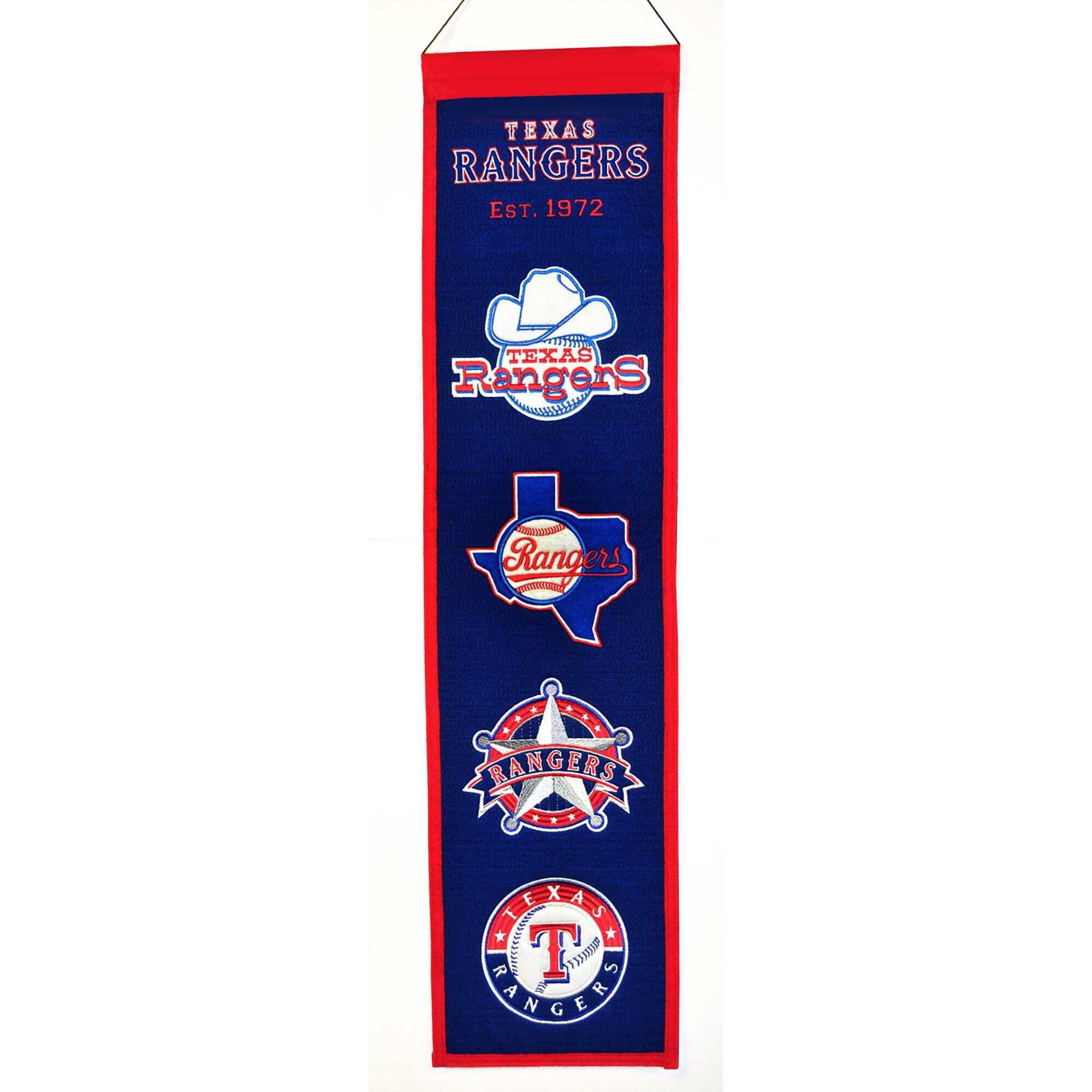 "Texas Rangers 8"" x 32"" Heritage Banner"